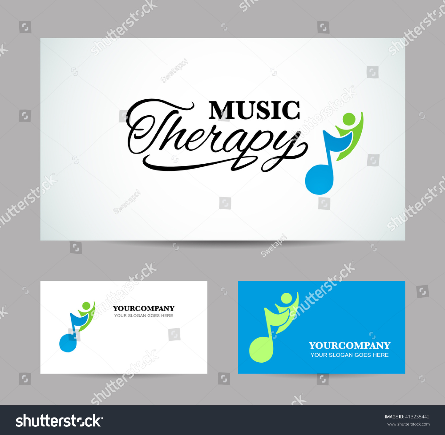 Business Card Showcase Music Therapy Vector Stock Vector Royalty