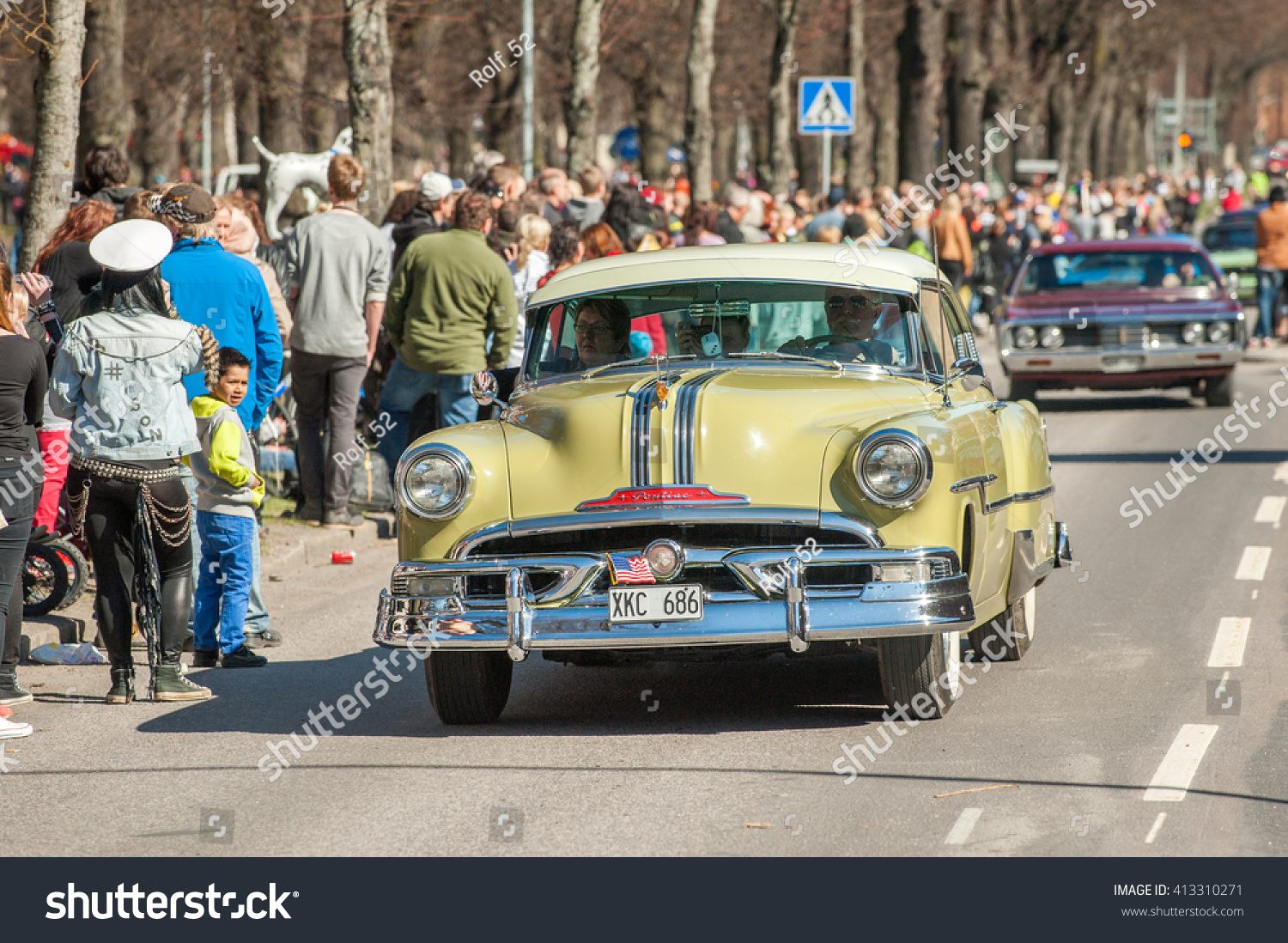 Norrkoping Sweden May 1 1953 Pontiac Stock Photo Edit Now Chieftain Sedan Catali At Classic Car Parade Celebrates