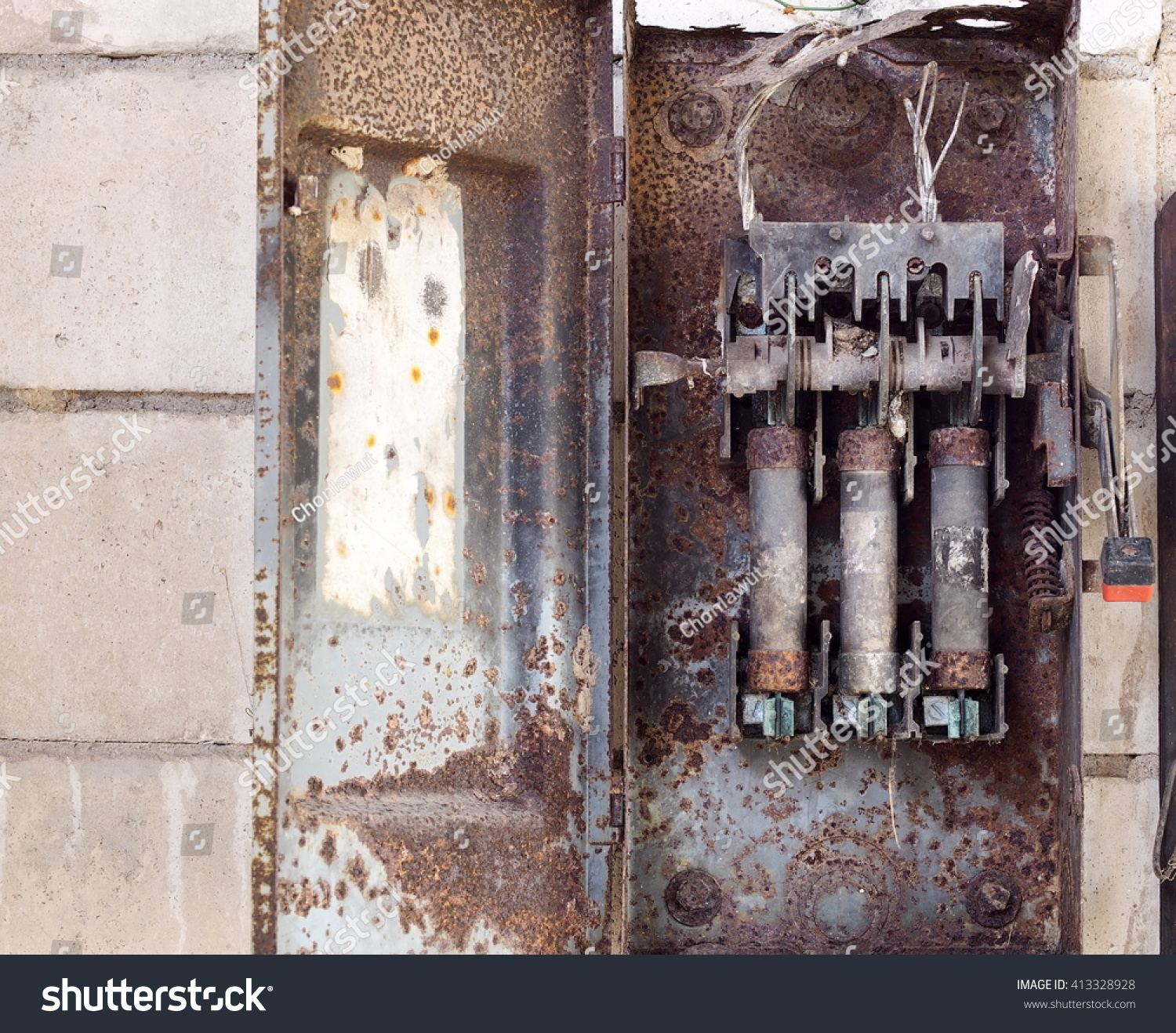 Vintage Fuse Box House Home Old Retro Style Rustic Abandoned Stock Photo Edit Now Rh Shutterstock Com 100 Amp Diagram