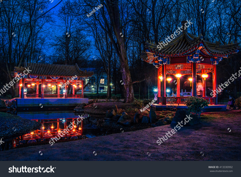 Chinese Pavilion Lazienki Park Warsaw Stock Photo (Download Now ...