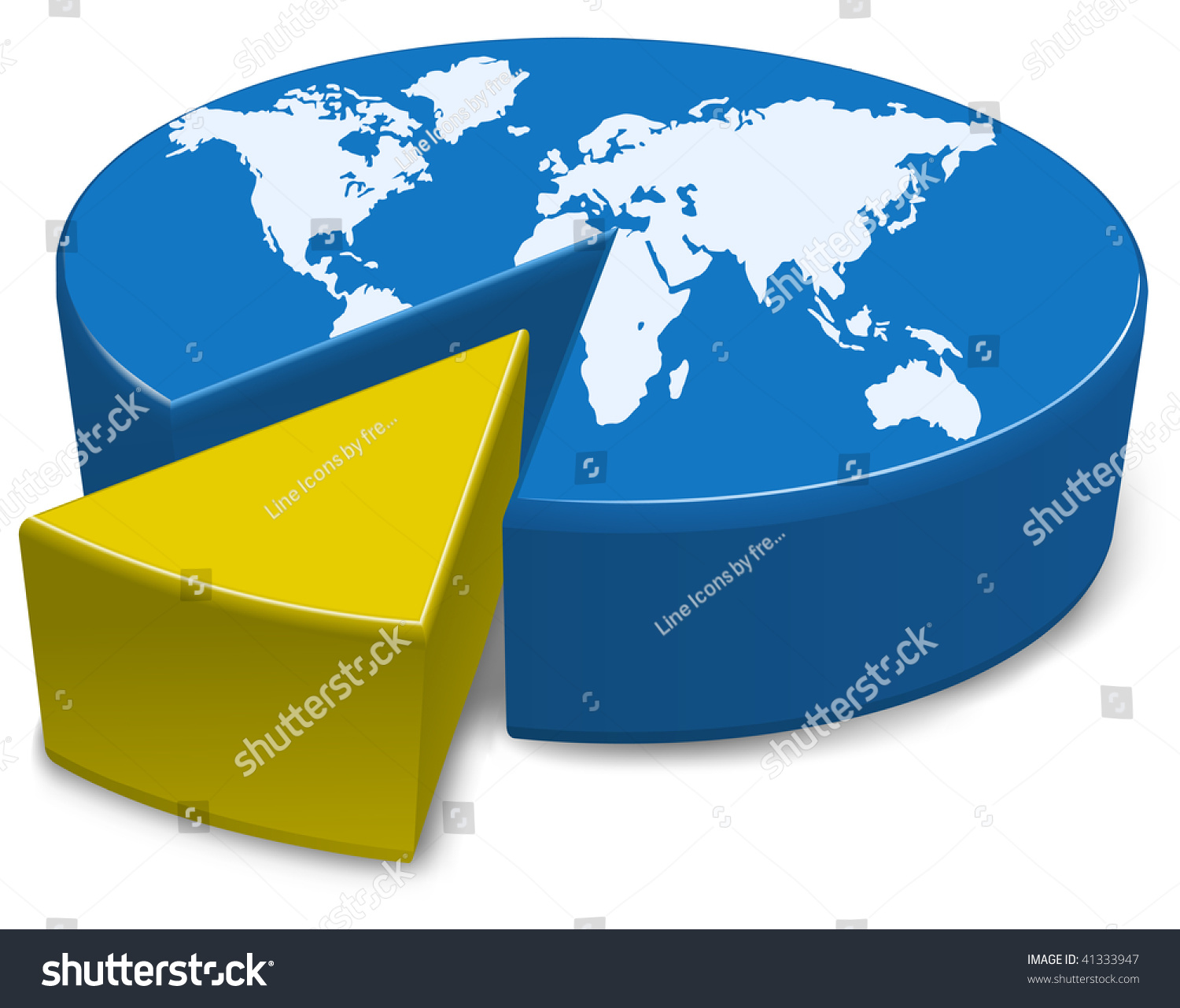 Pie chart globe world divided into stock vector 41333947 a pie chart of the globe with the world divided into two parts nvjuhfo Gallery