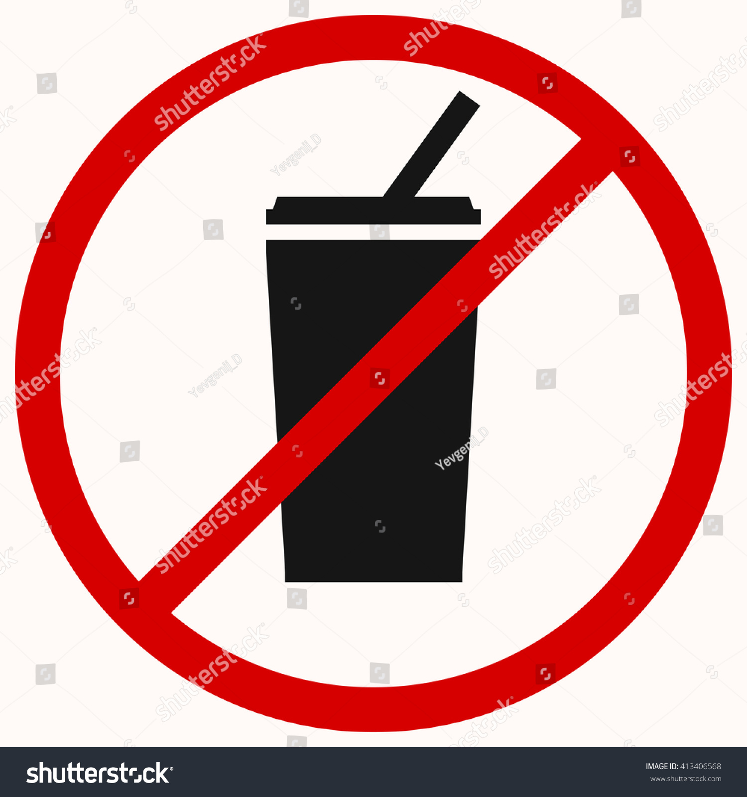 no drink sign red prohibition vector のベクター画像素材