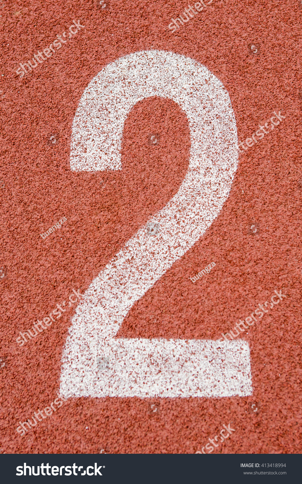 number two on start running track stock photo edit now 413418994
