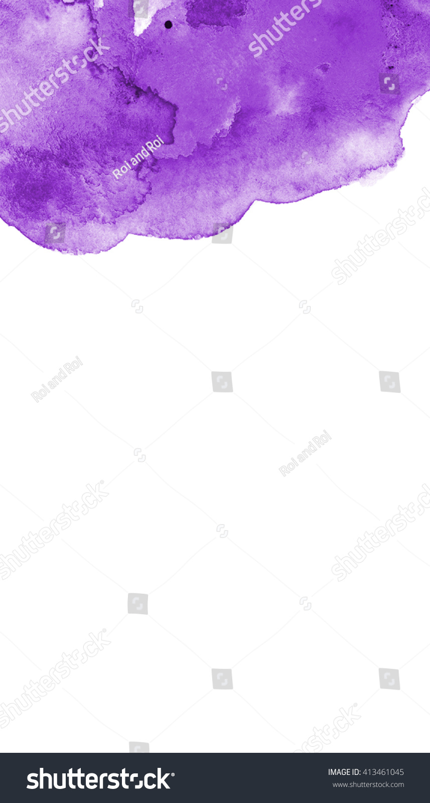 Purple Empty Blank Watercolor Frame Template Stock Illustration ...