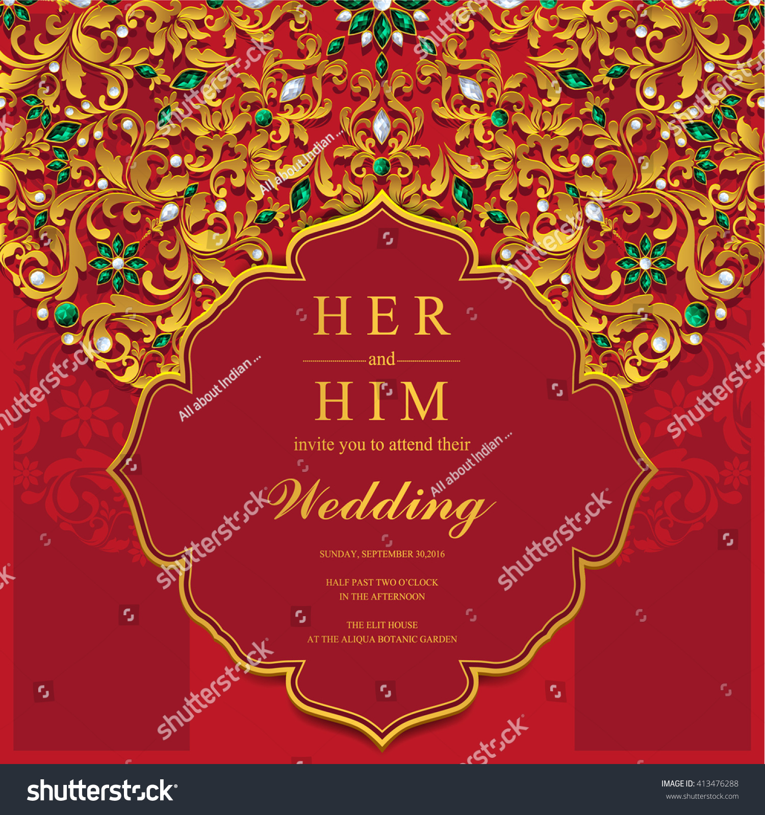 Wedding Invitation Card Abstract Background Islam Stock Vector ...