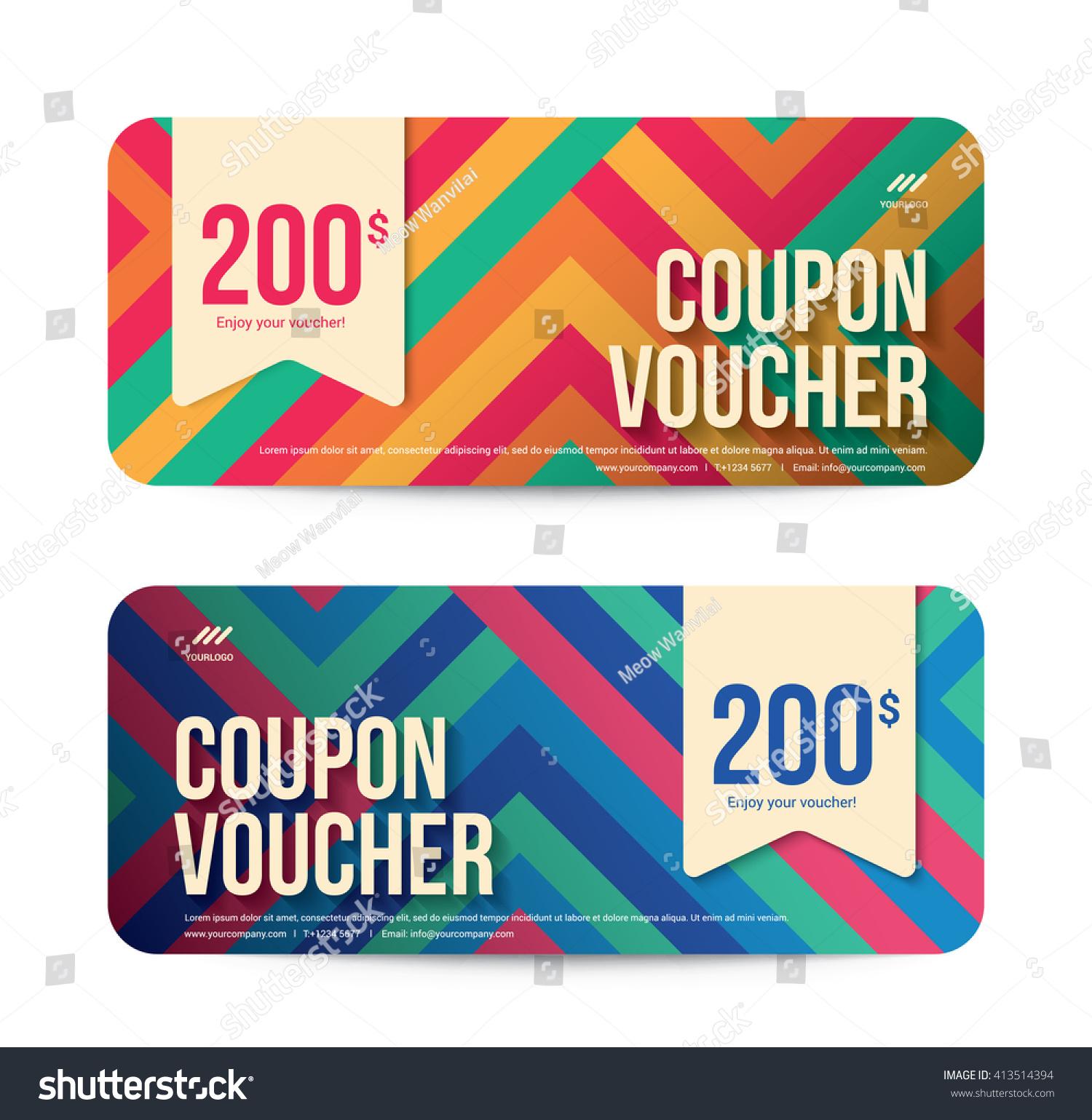 Template Gift Voucher Coupon Discount Background Vectores En Stock ...