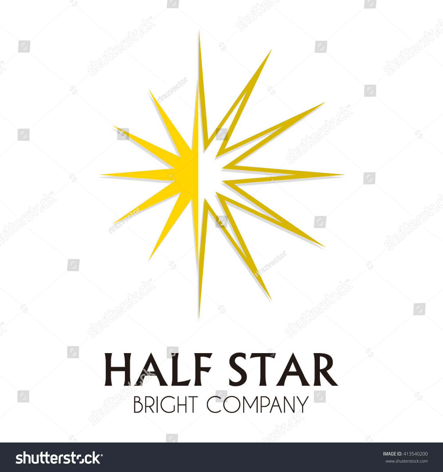Half star light sky abstract vector stock vector 413540200 half star of light sky abstract vector and logo design or template geometric triangle business icon biocorpaavc