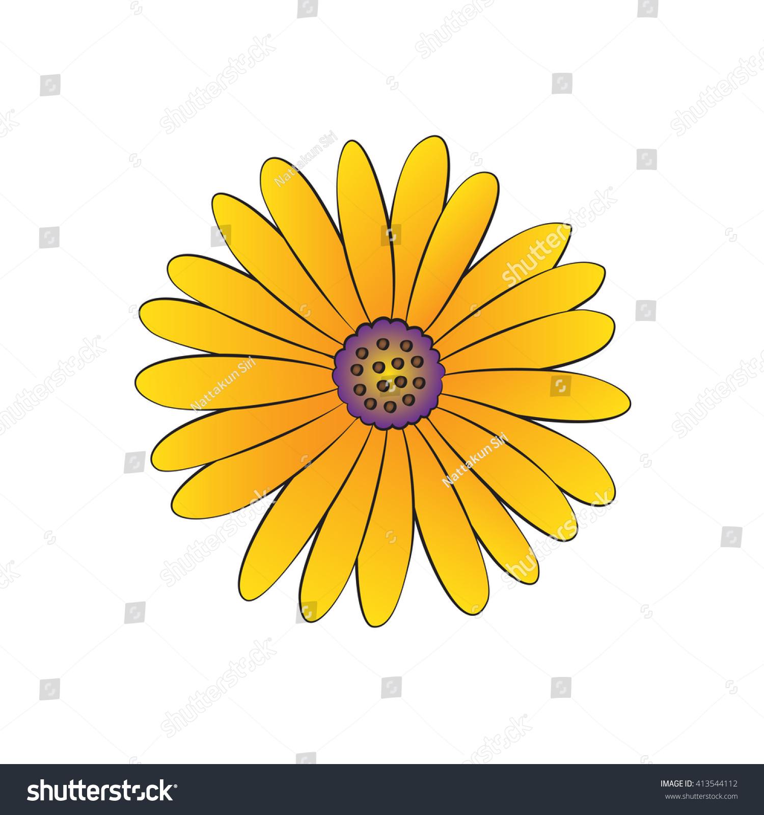 Vector cartoon daisy on white background stock photo photo vector vector cartoon daisy on white background izmirmasajfo