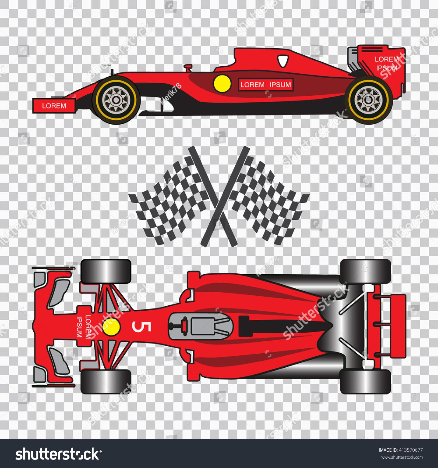 Formula e Red Racing Car Sport Stock Vector Royalty Free