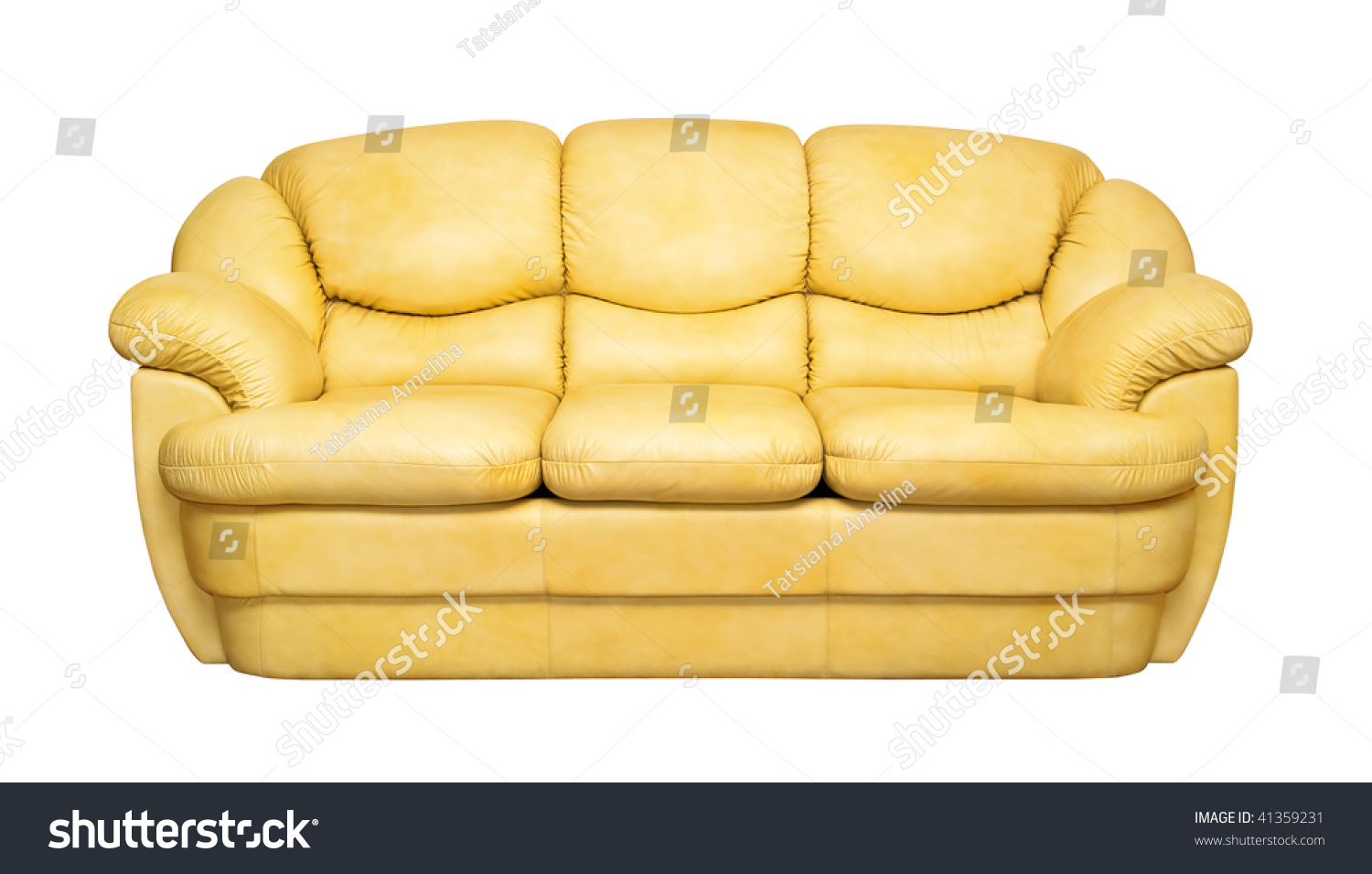 yellow leather sofa isolated on white stock photo edit now rh shutterstock com Designer Upholstery Fabric Upholstery Fabric Outlet