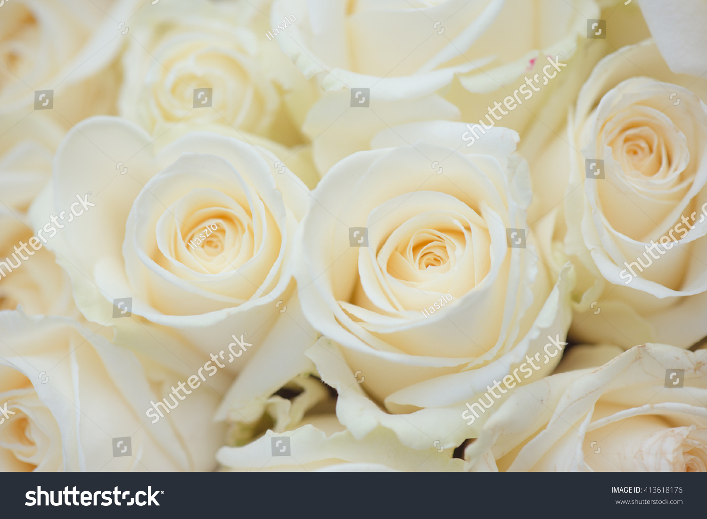 Wedding Bouquet Of White Flowers White Roses Ez Canvas