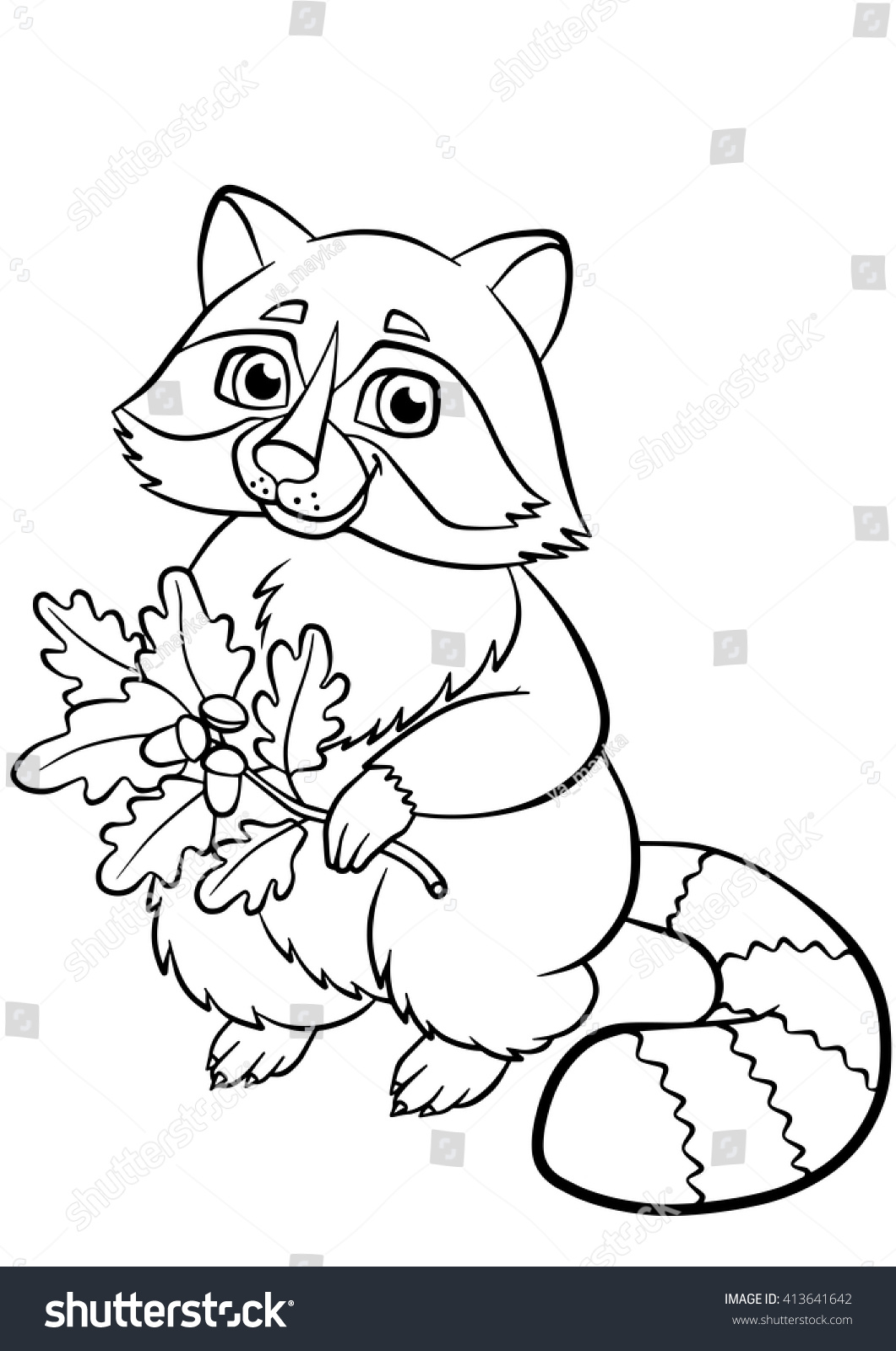 90 Cute Raccoon Coloring Pages , Free HD Download
