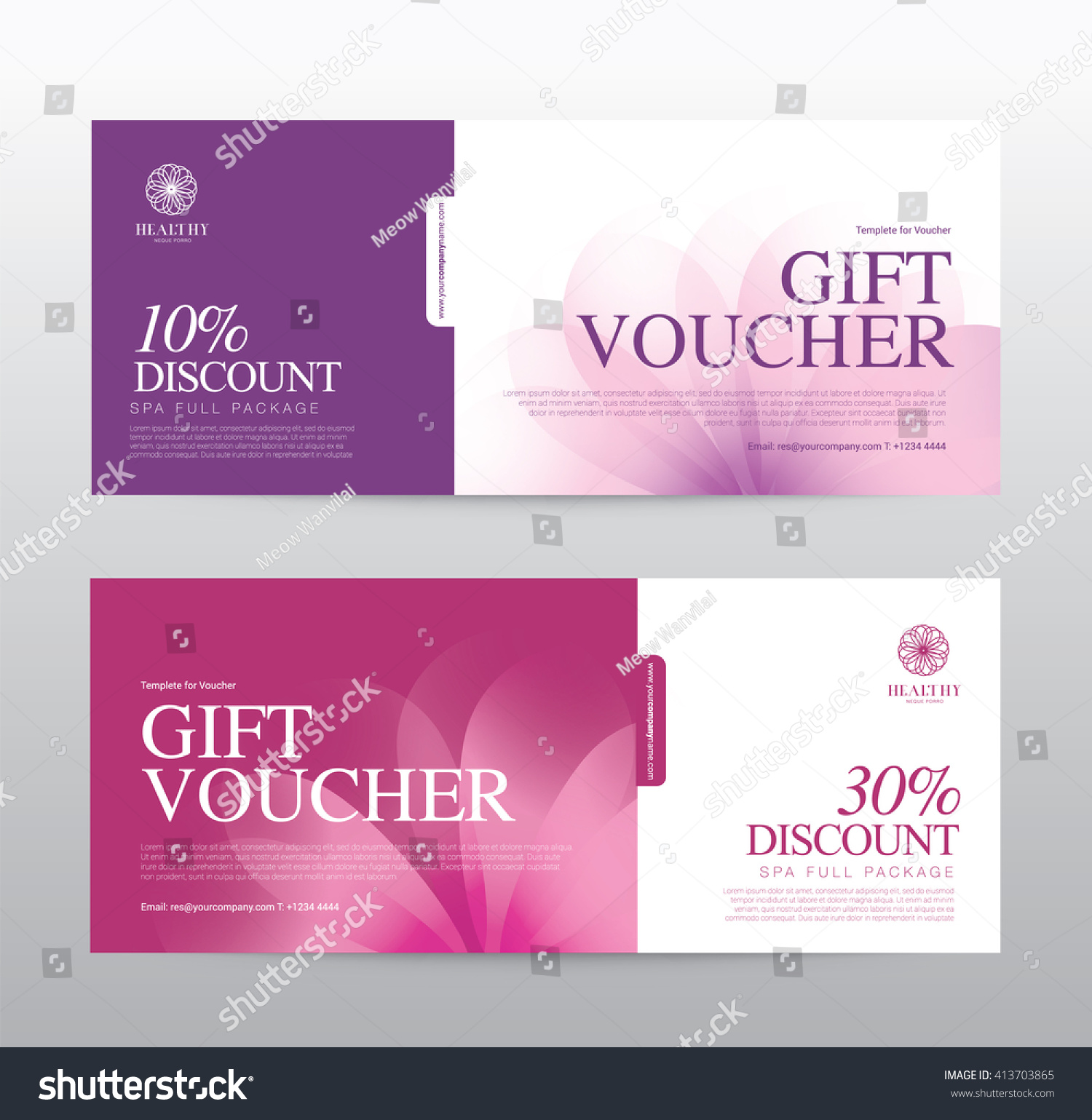 Gift Voucher Template Spa Hotel Resort Vector 413703865 – Hotel Gift Certificate Template