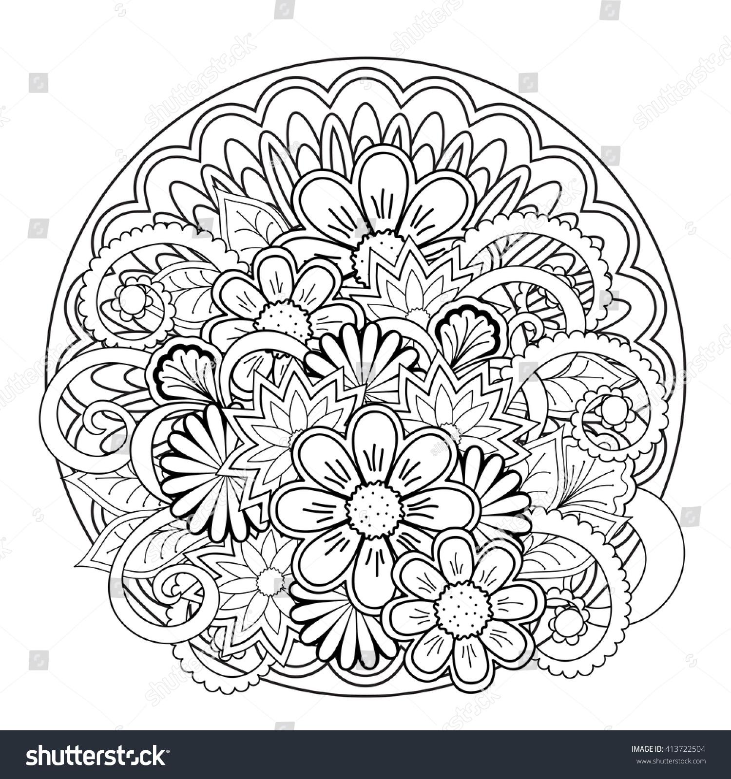 Bohemian Mandala Coloring Pages Www Topsimages Com