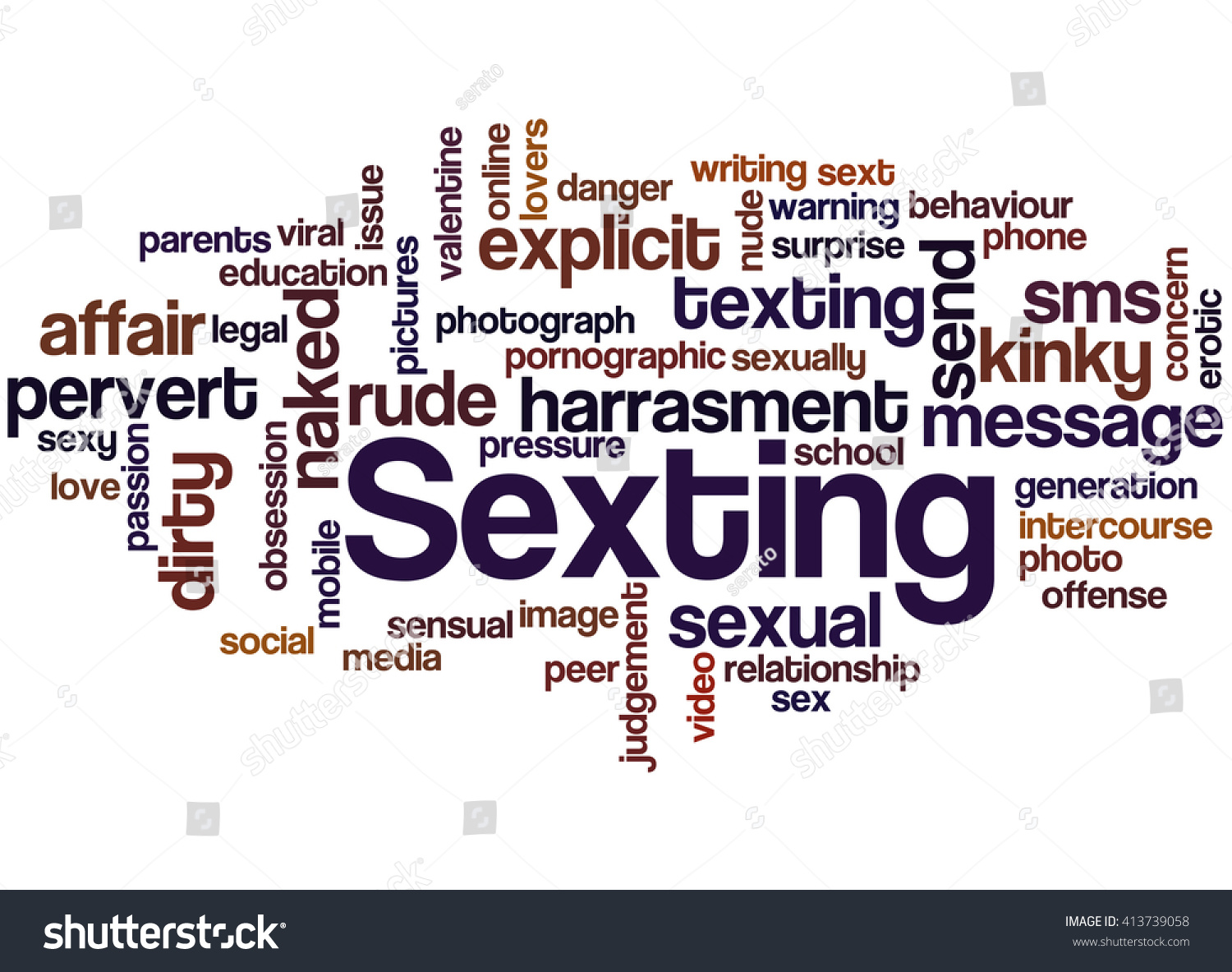 Sexting word cloud concept on white stock illustration 413739058 sexting word cloud concept on white background biocorpaavc Choice Image