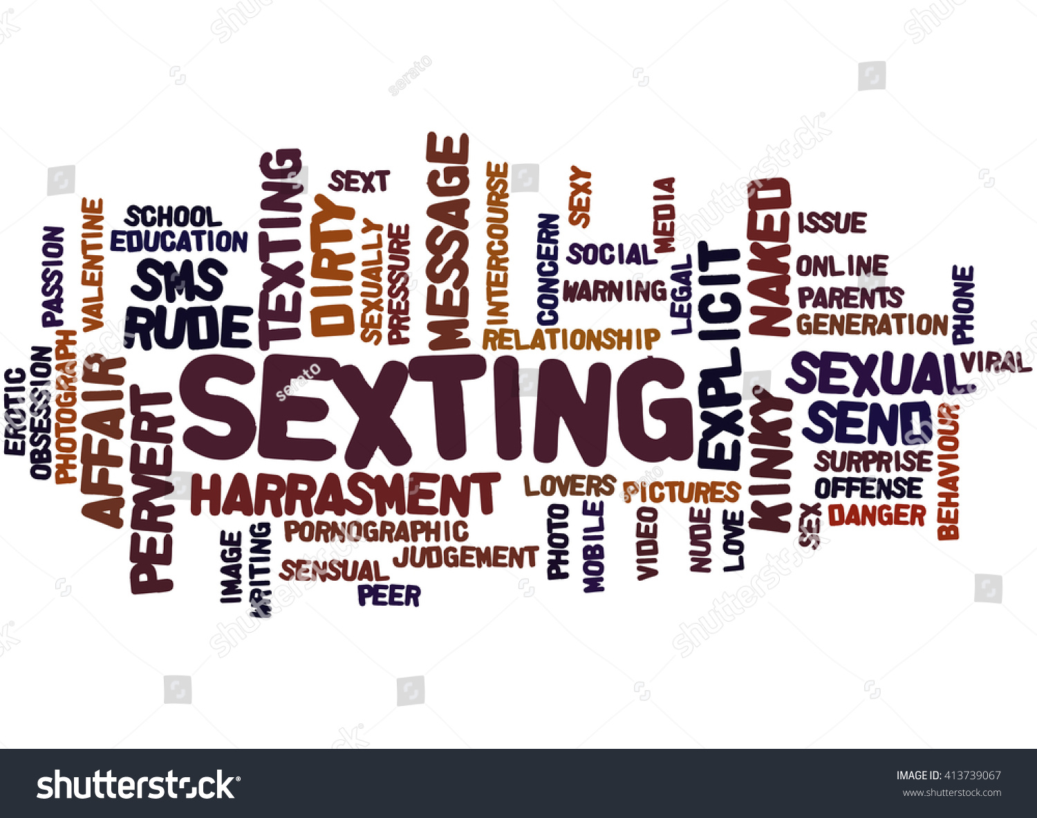 Sexting word cloud concept on white stock illustration 413739067 sexting word cloud concept on white background biocorpaavc Choice Image