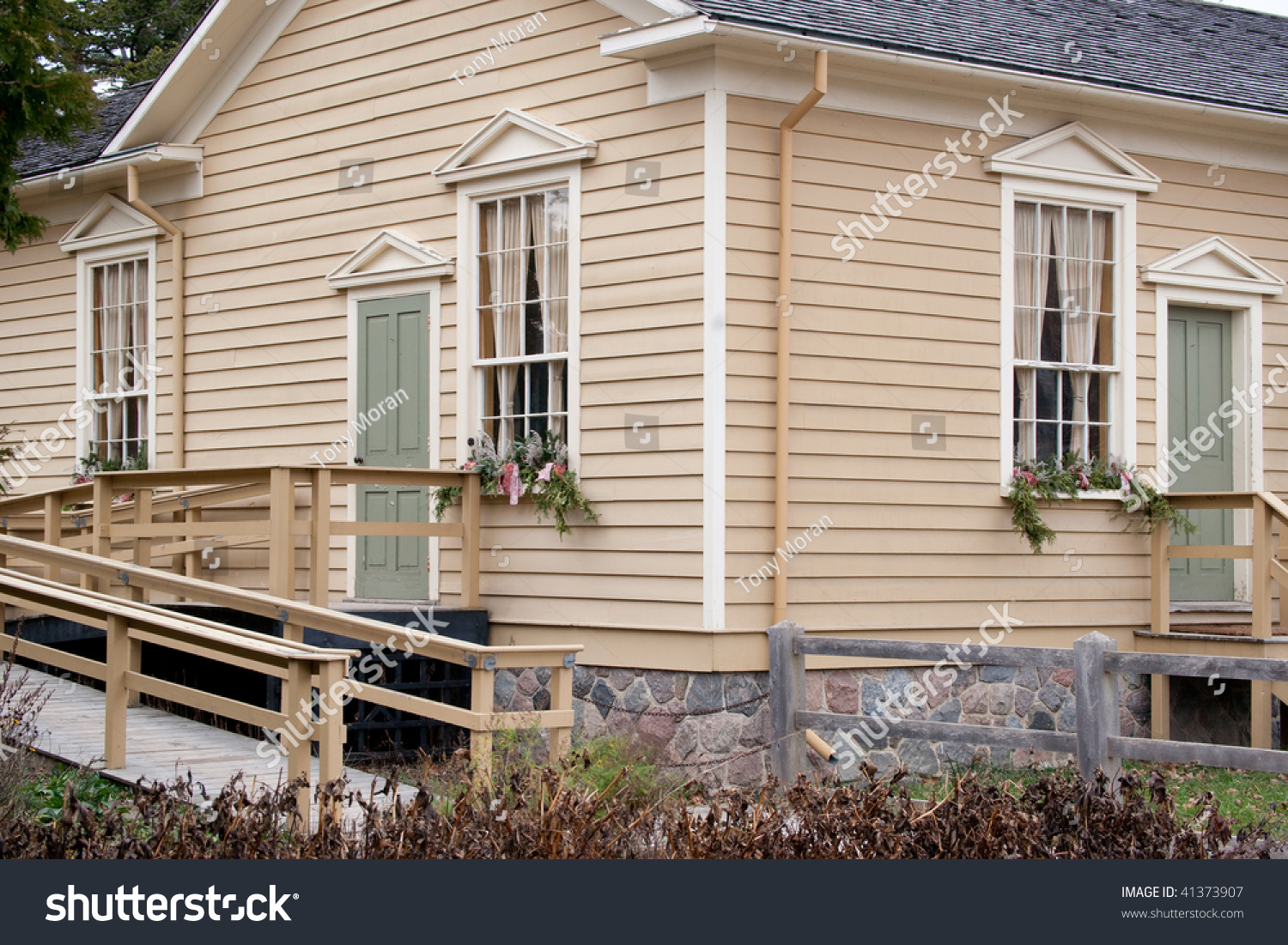 ^ Well Maintained Pioneer House, Showing Painted edar Siding. Stock ...