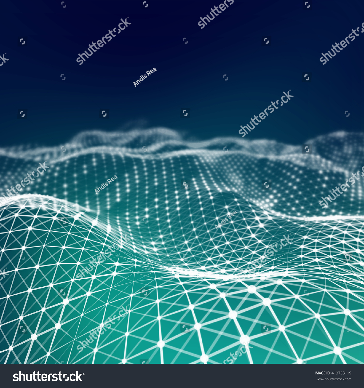 Abstract Low Poly Background Plexus Low Stock Illustration 413753119 ...