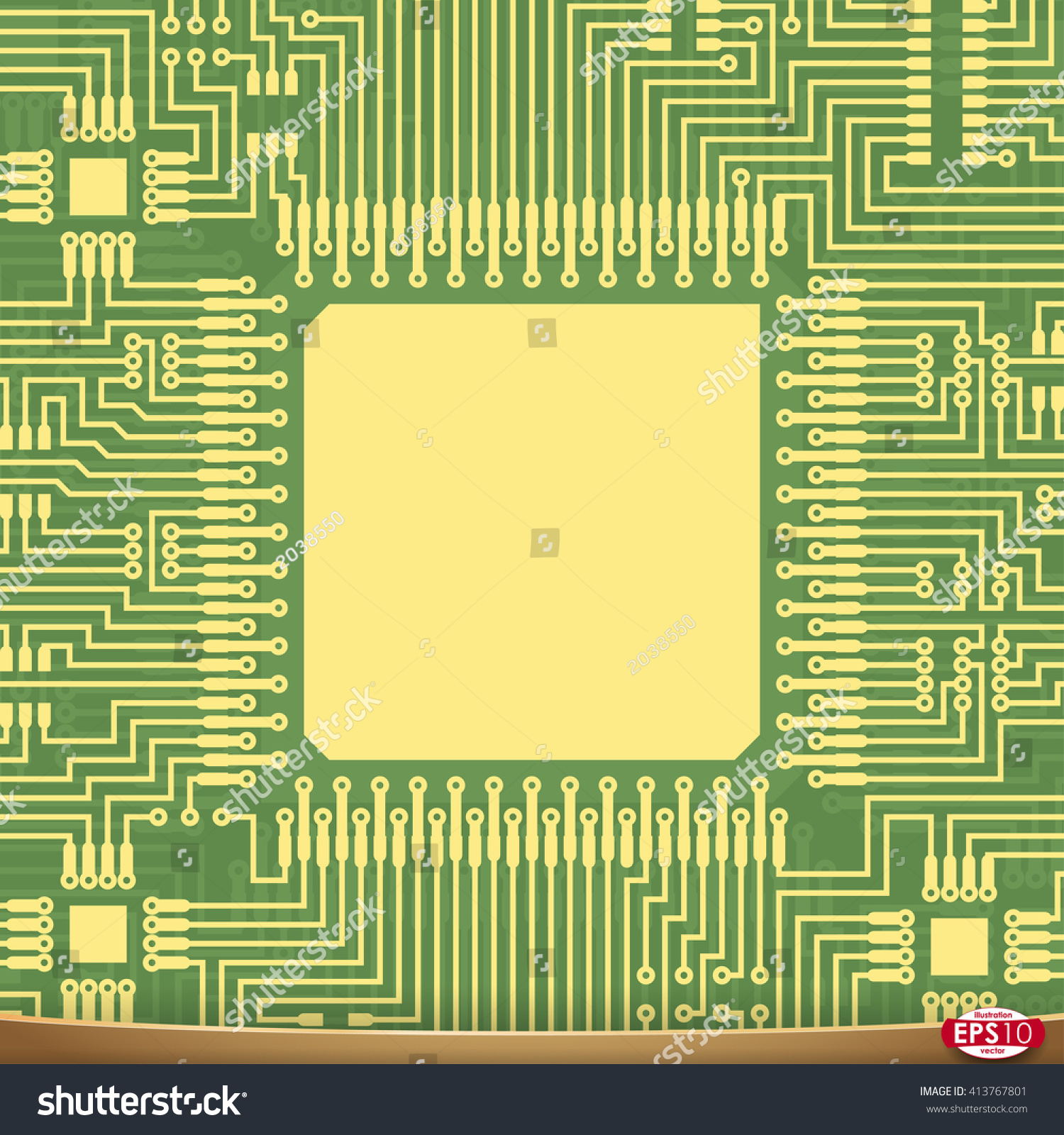 Pcb Wiring Scheme Vector Electrical Background Stock Royalty Motherboard Computer Abstract Tech Equipment