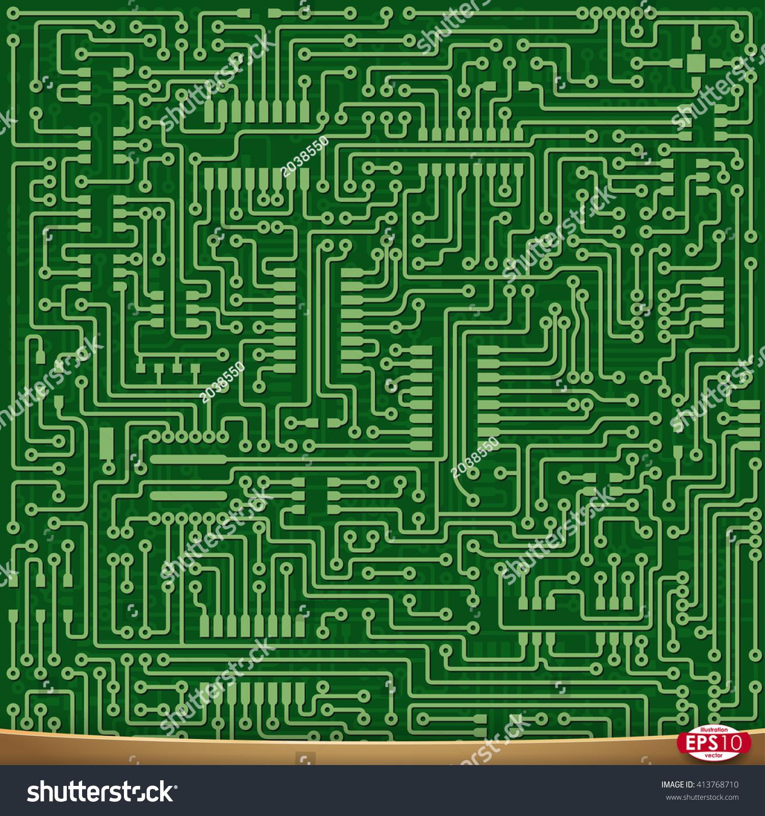 Admirable Pcb Wiring Scheme Vector Electrical Background Stock Vektorgrafik Wiring Digital Resources Honesemecshebarightsorg