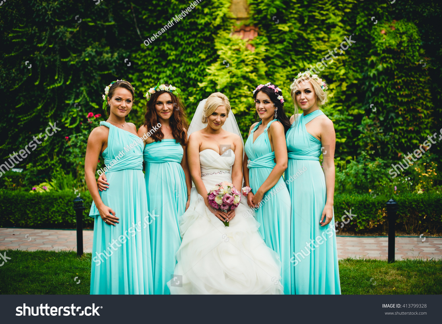Fancy Dresses Wedding Day Stock Photo (Download Now) 413799328 ...