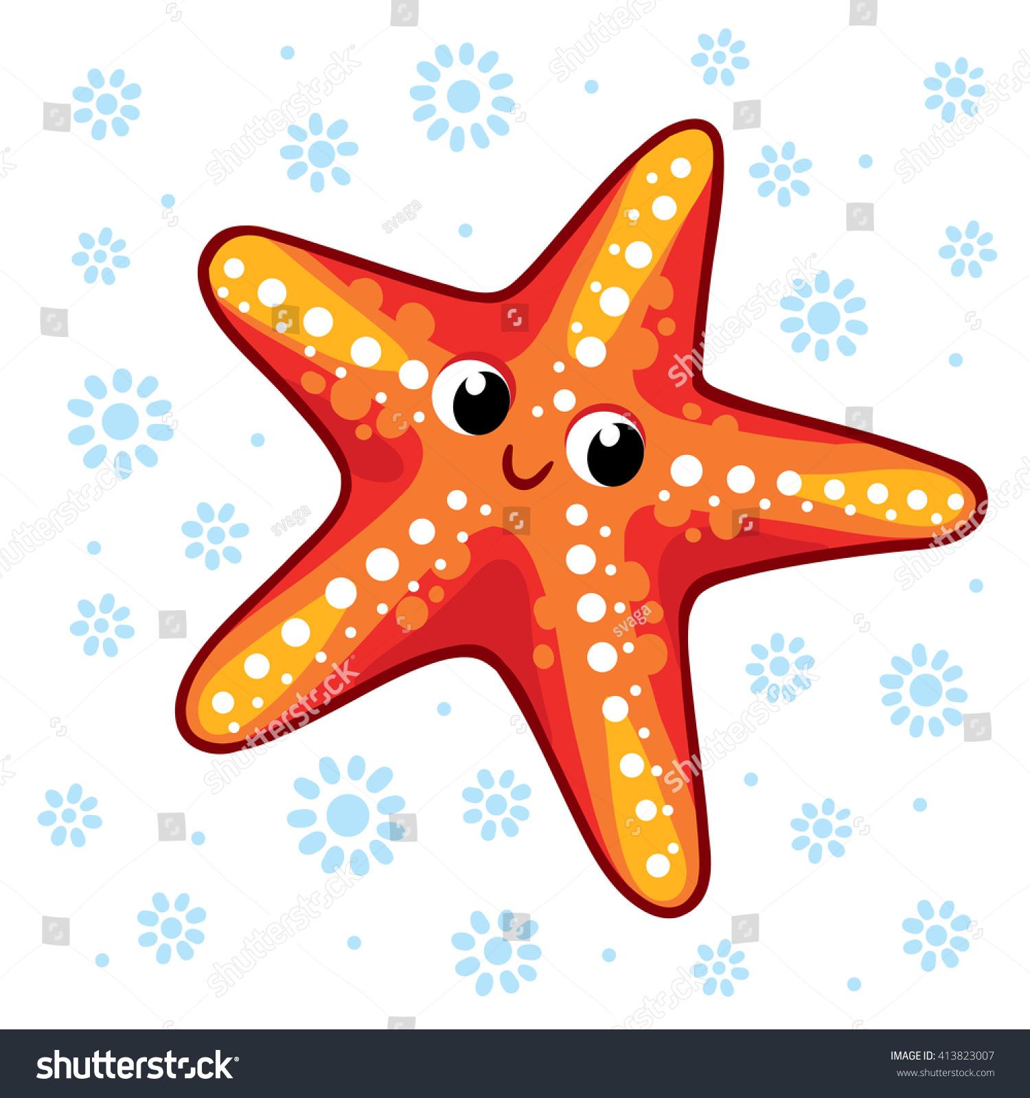 Starfish Cartoon Starfish Vector Illustration Sea Stock