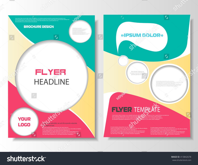 Brochure Design Printable Flyer Template Banner Stock Vector - Printable brochure template