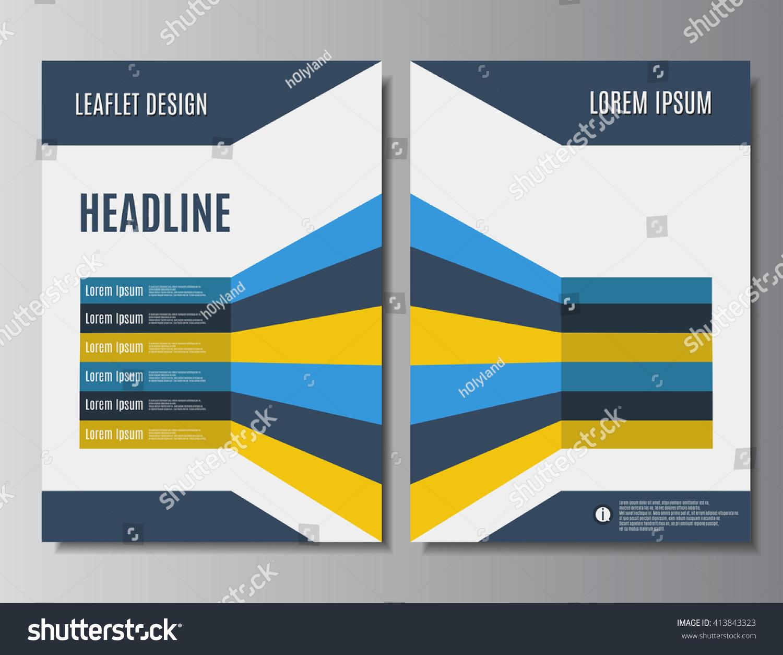 Leaflet Design Printable Brochure Template Flyer Stock Vector - Printable brochure template