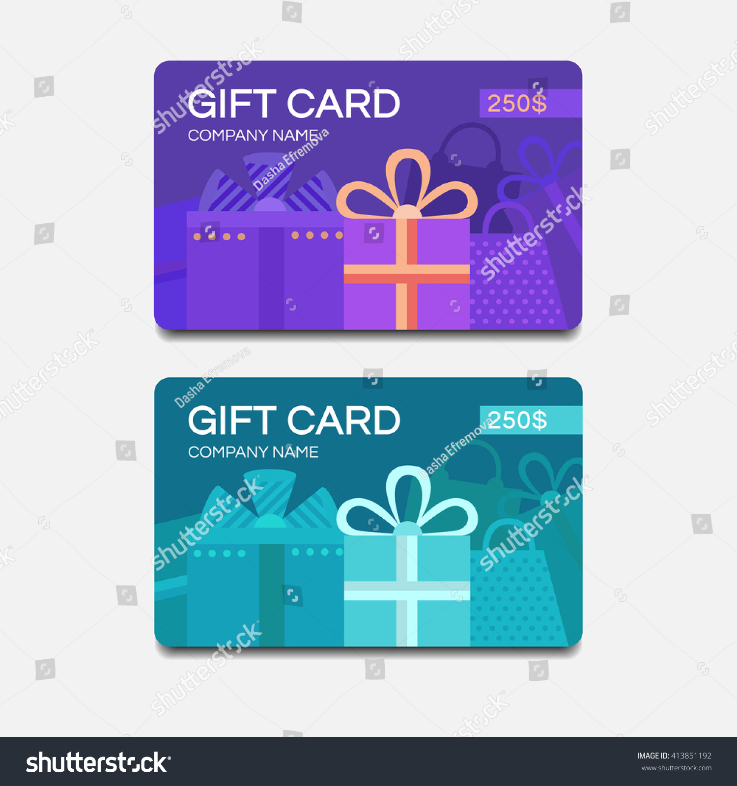 gift card template discount coupon vector stock vector 413851192 shutterstock. Black Bedroom Furniture Sets. Home Design Ideas