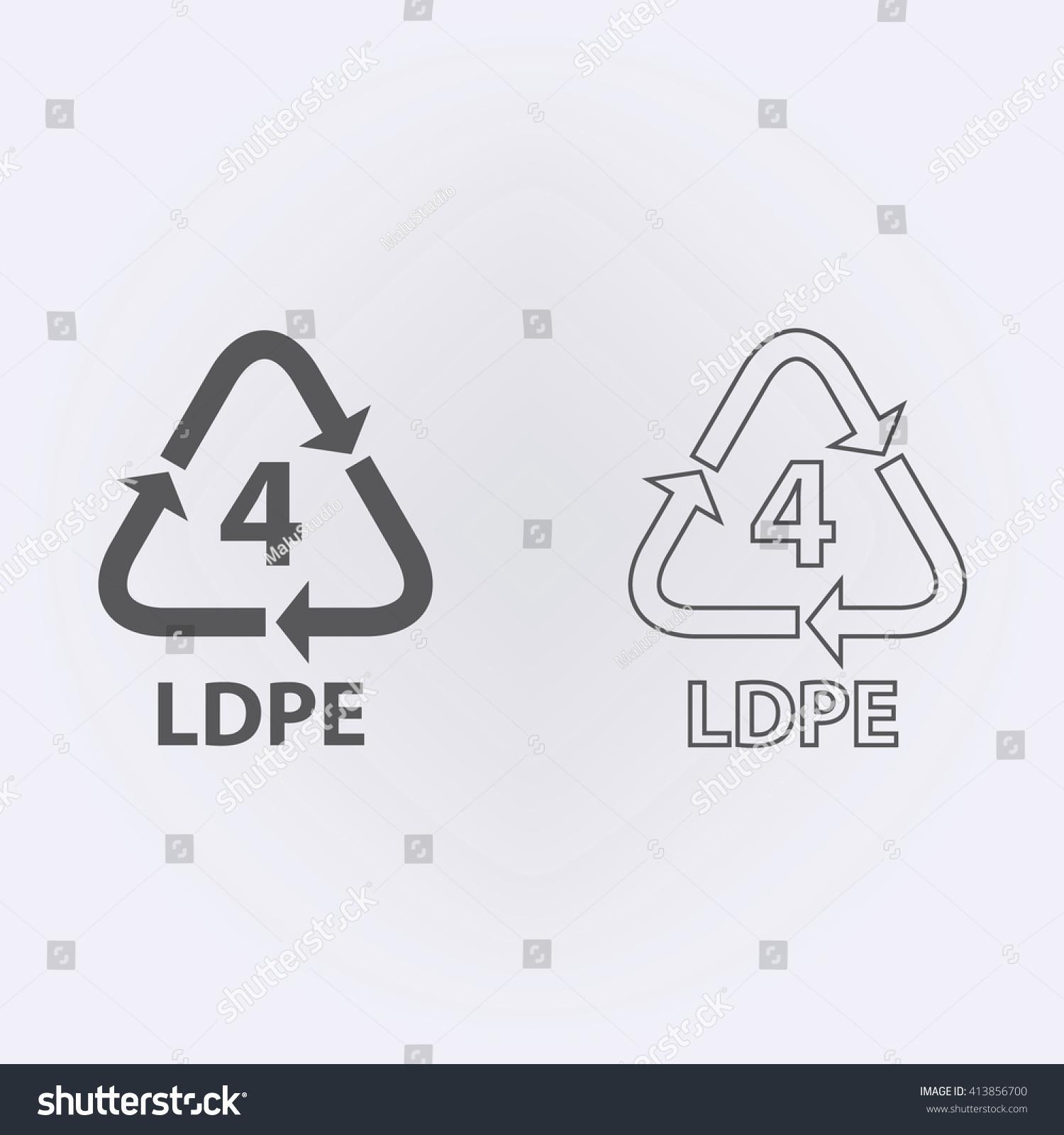 Plastic recycling symbol ldpe 4 vector stock vector 413856700 plastic recycling symbol ldpe 4 vector illustration biocorpaavc Choice Image