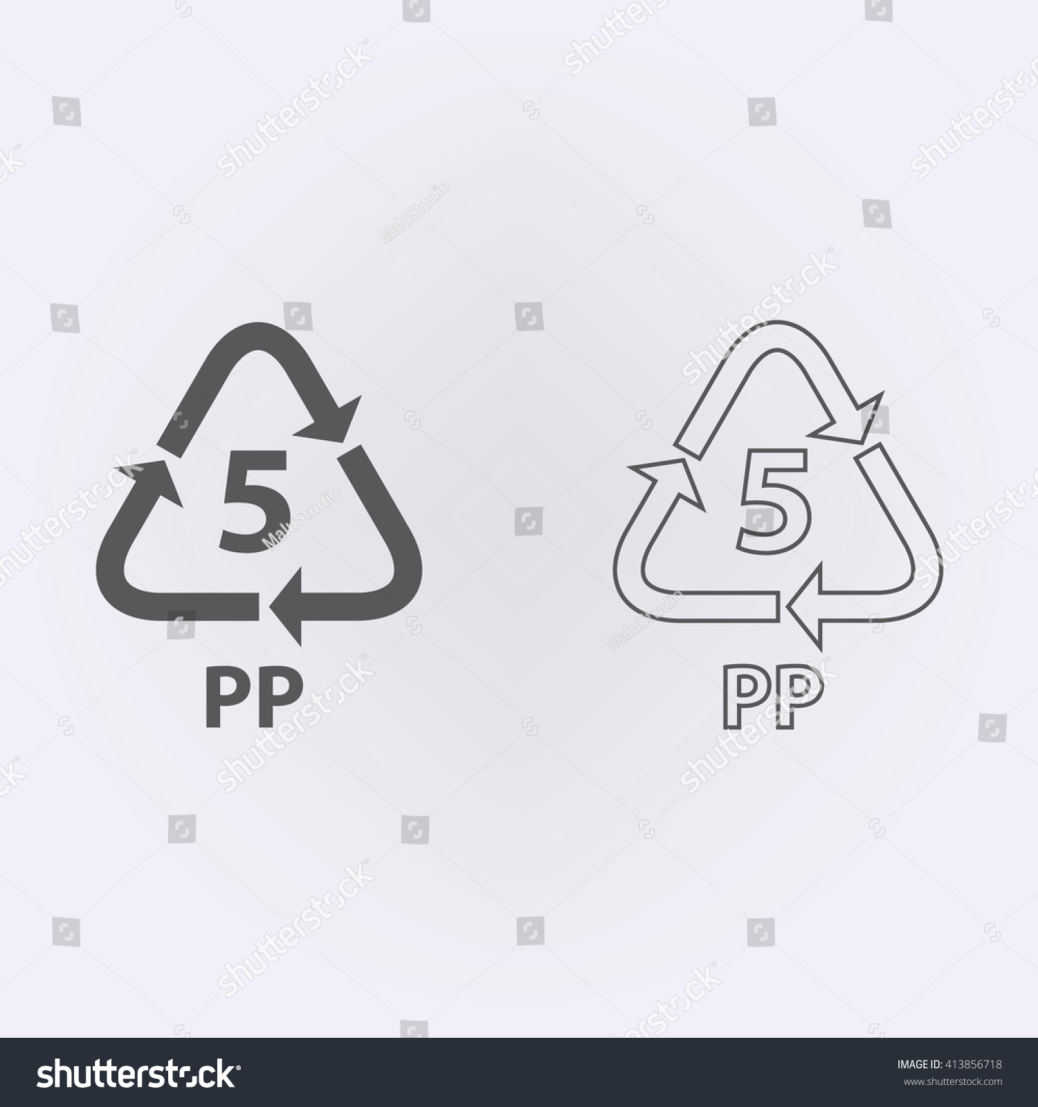 Plastic Recycling Symbol Pp 5 Vector Stock Vector Royalty Free