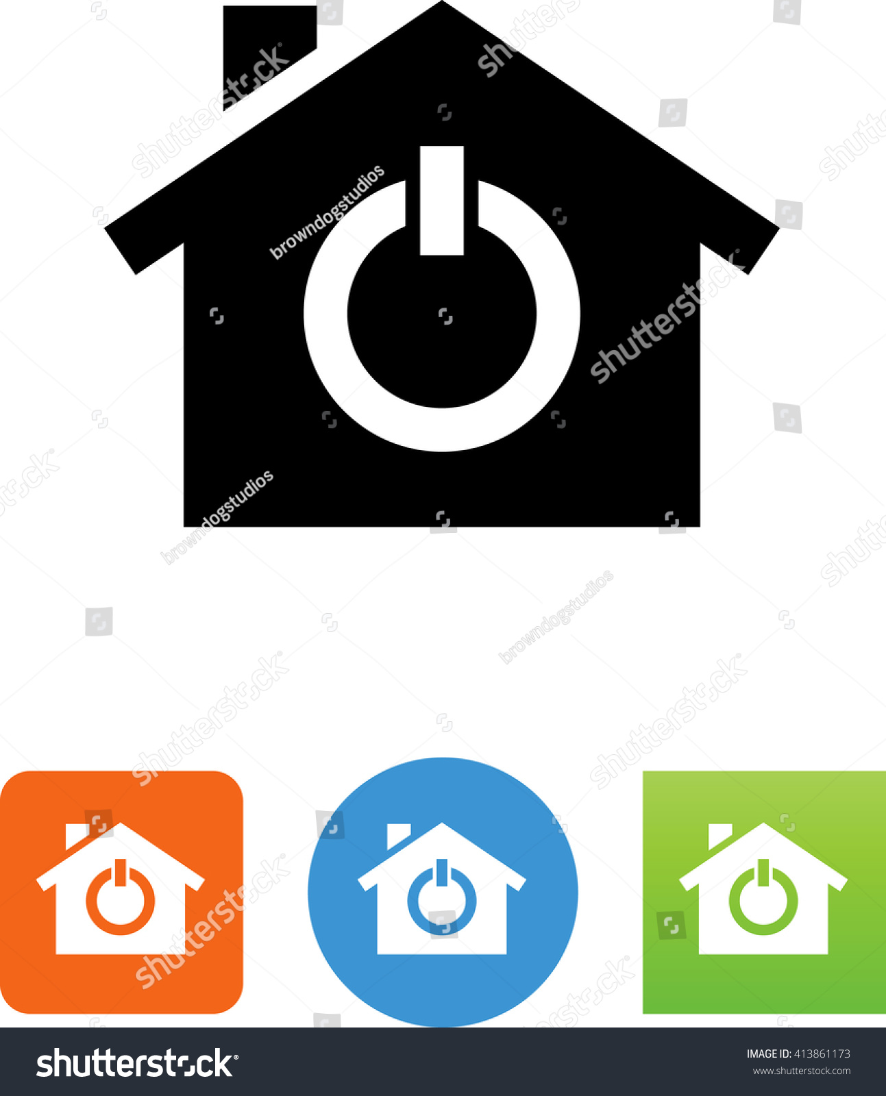 House Power On Off Icon Stock Vector Royalty Free 413861173