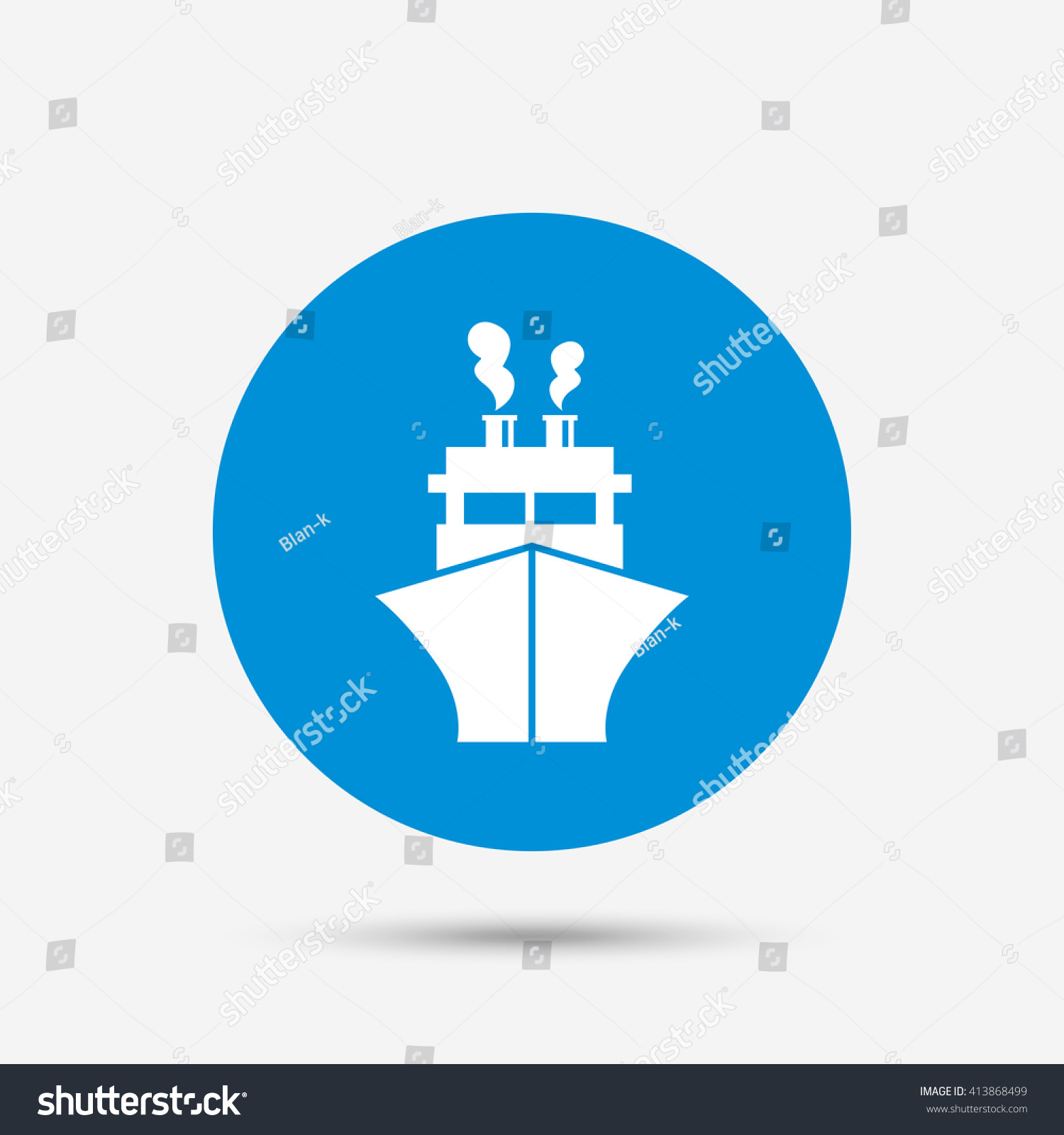 Ship boat sign icon shipping delivery stock vector 413868499 shipping delivery symbol blue circle button with icon biocorpaavc Choice Image