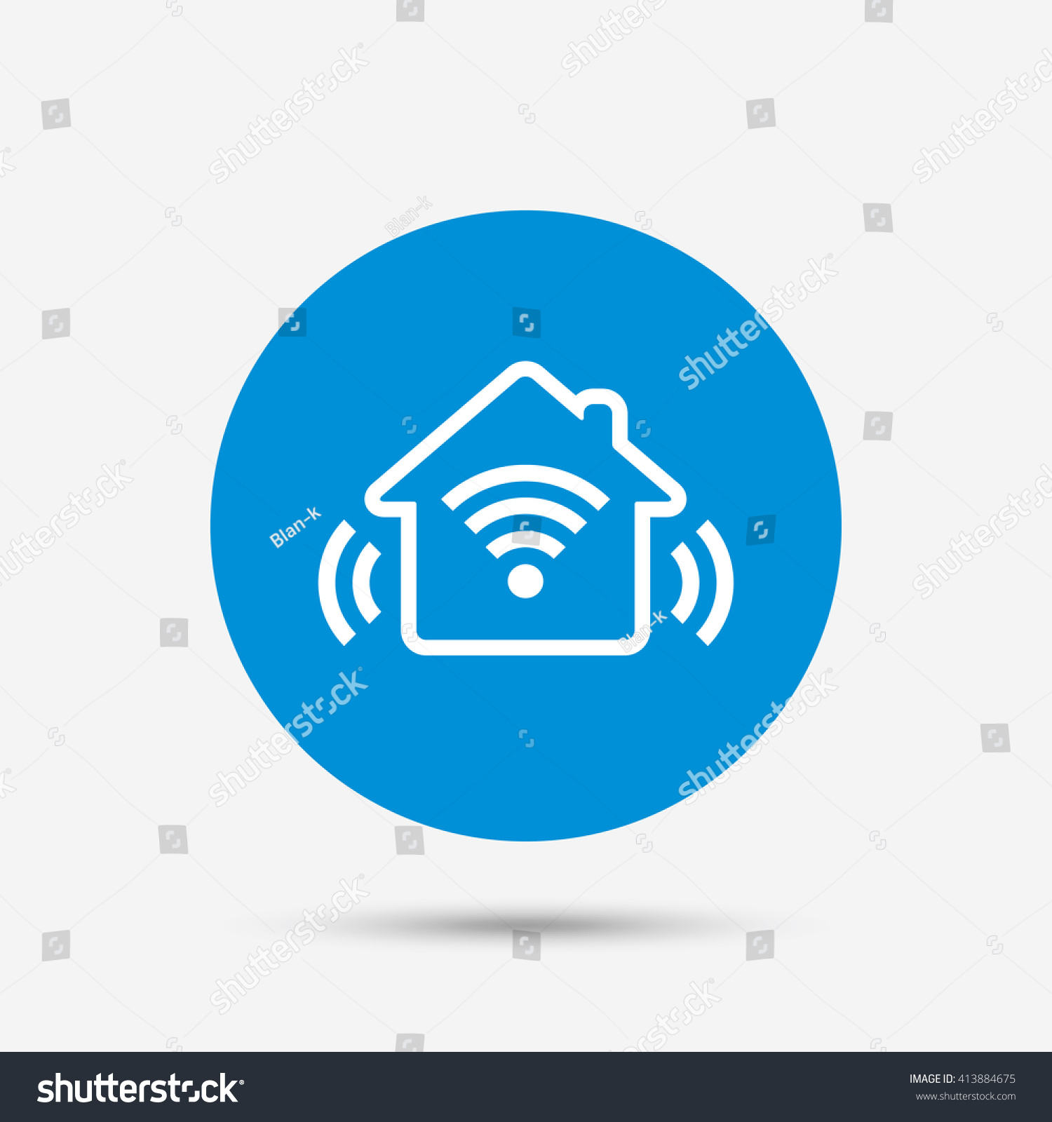smart home sign icon smart house stock vector 413884675 - shutterstock
