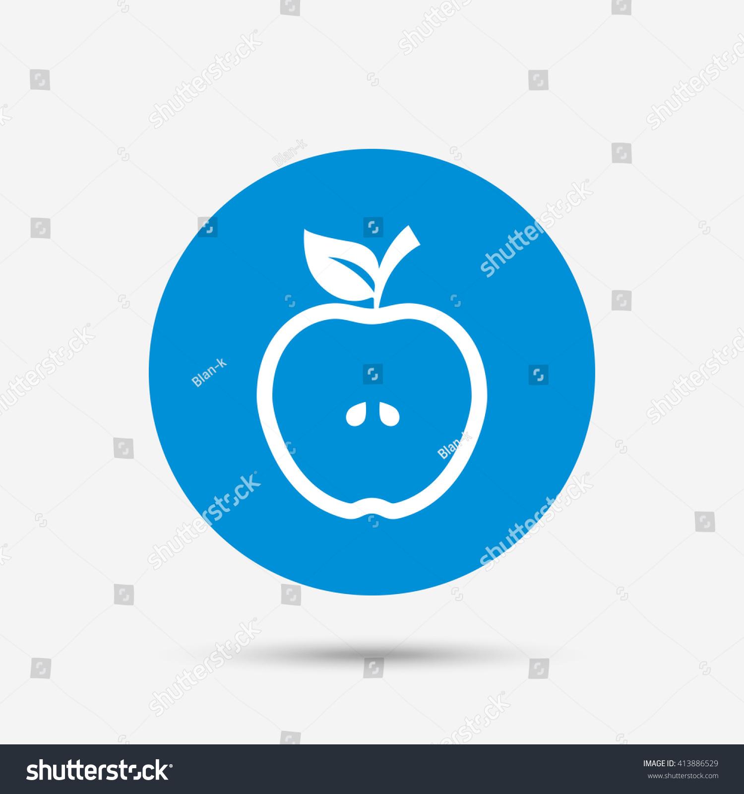 apple sign icon fruit leaf symbol stock vector 413886529 - shutterstock
