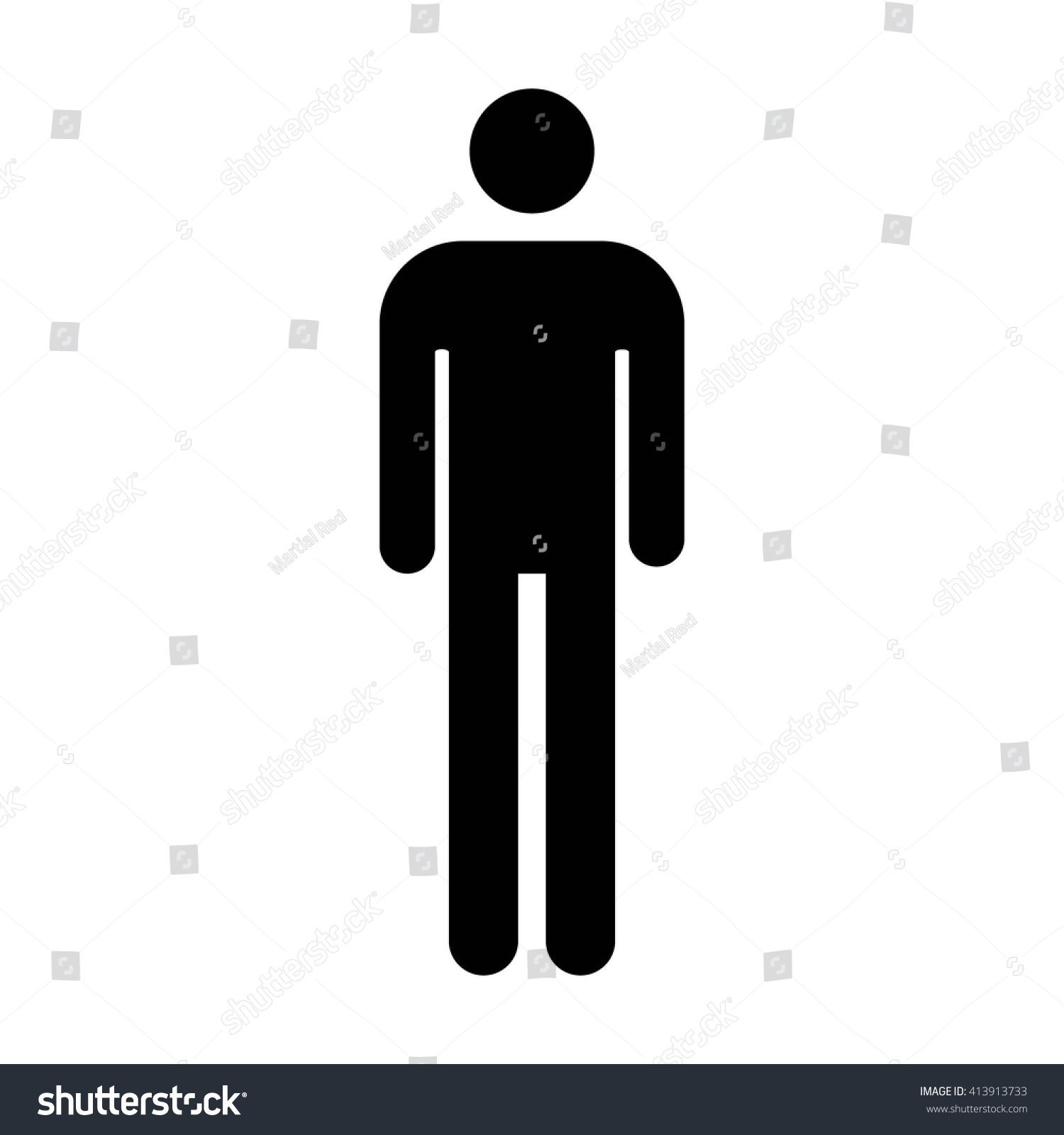 Male Mens Bathroom Restroom Sign Flat Stock Vector 413913733 Shutterstock