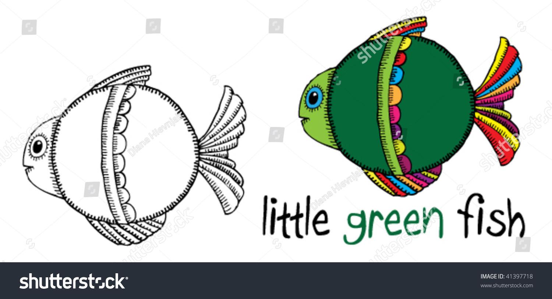 little green fish stock vector illustration 41397718. Black Bedroom Furniture Sets. Home Design Ideas