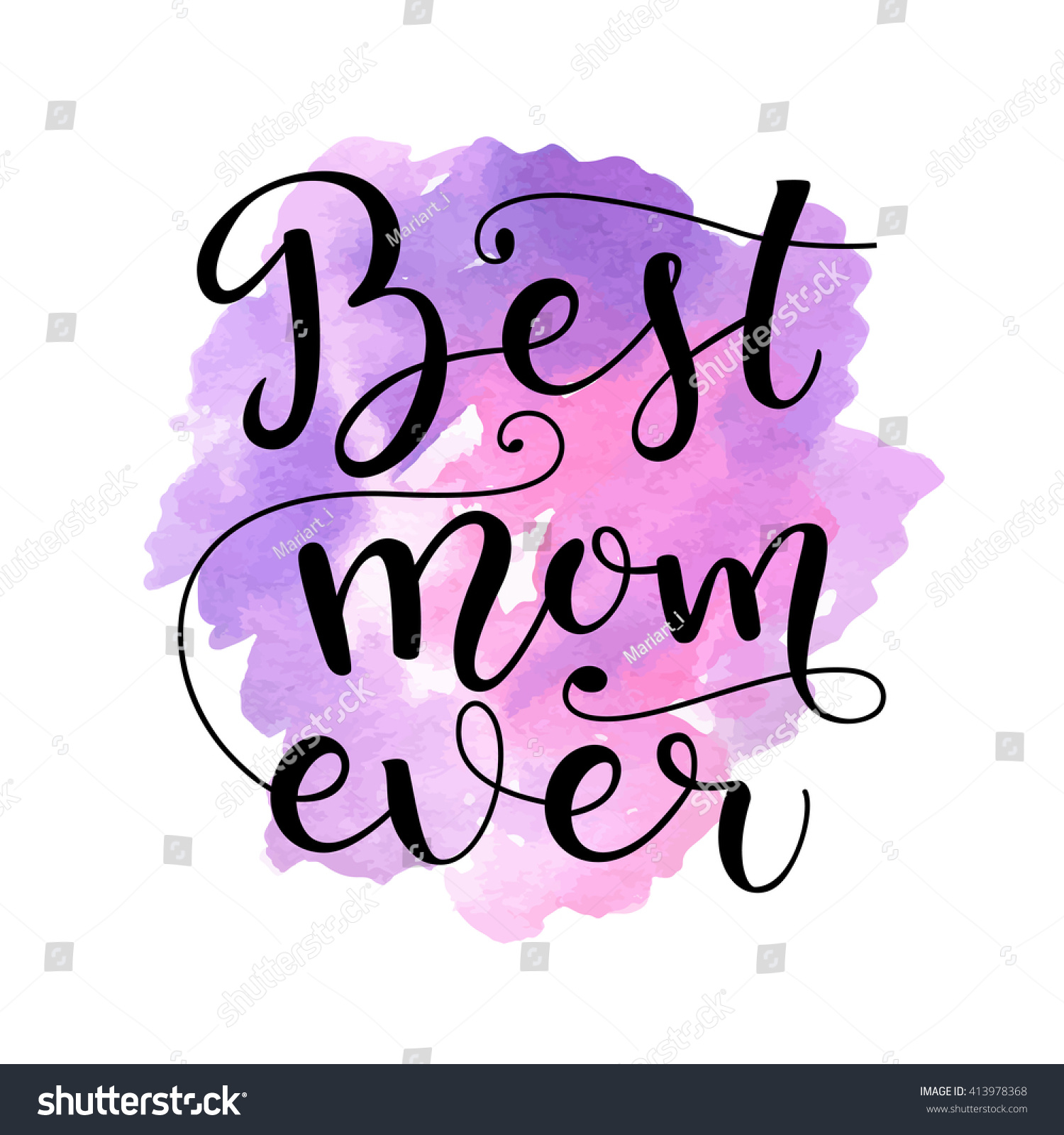 Best Mom Ever Card Mothers Day Stock Vector 413978368