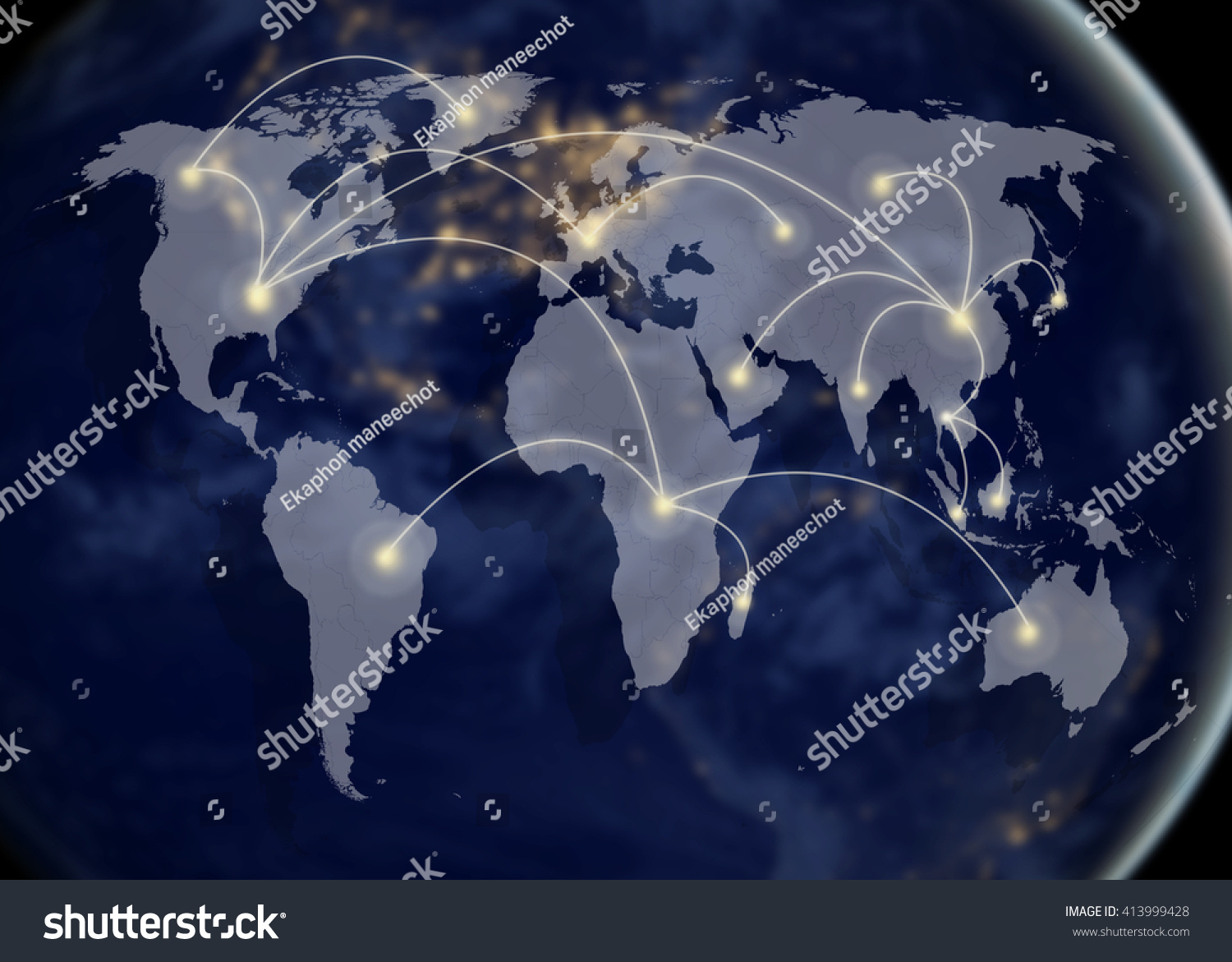 network and world map networking concept Elements of this image furnished by NASA