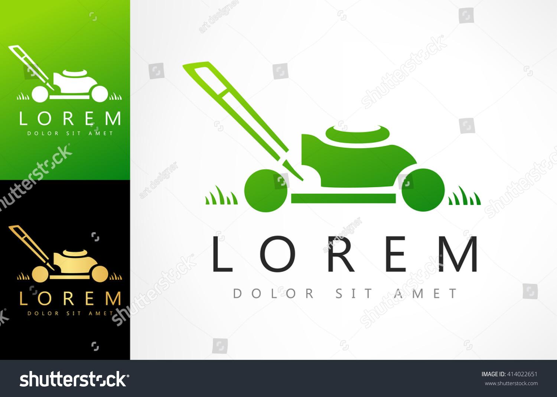 lawn mower logo vector stock vector shutterstock lawn mower logo vector