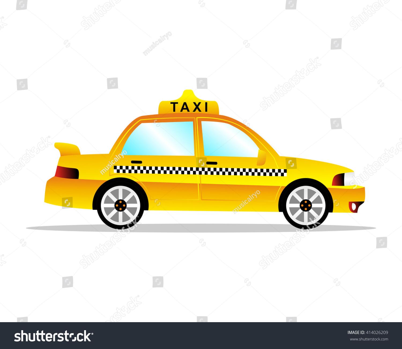 Yellow Cab Image Vector Stock Vector HD (Royalty Free) 414026209 ...