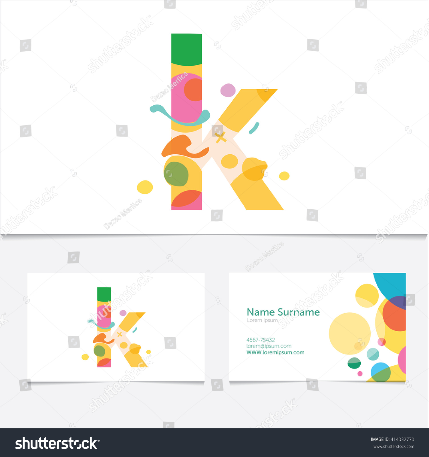 Creative Letter K Design Vector Template Stock Vector