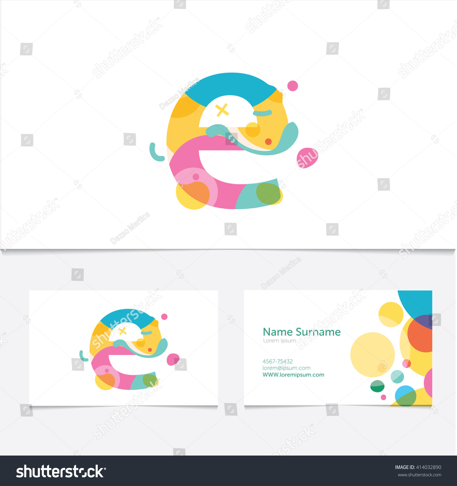 Creative Letter E Design Vector Template Stock Vector