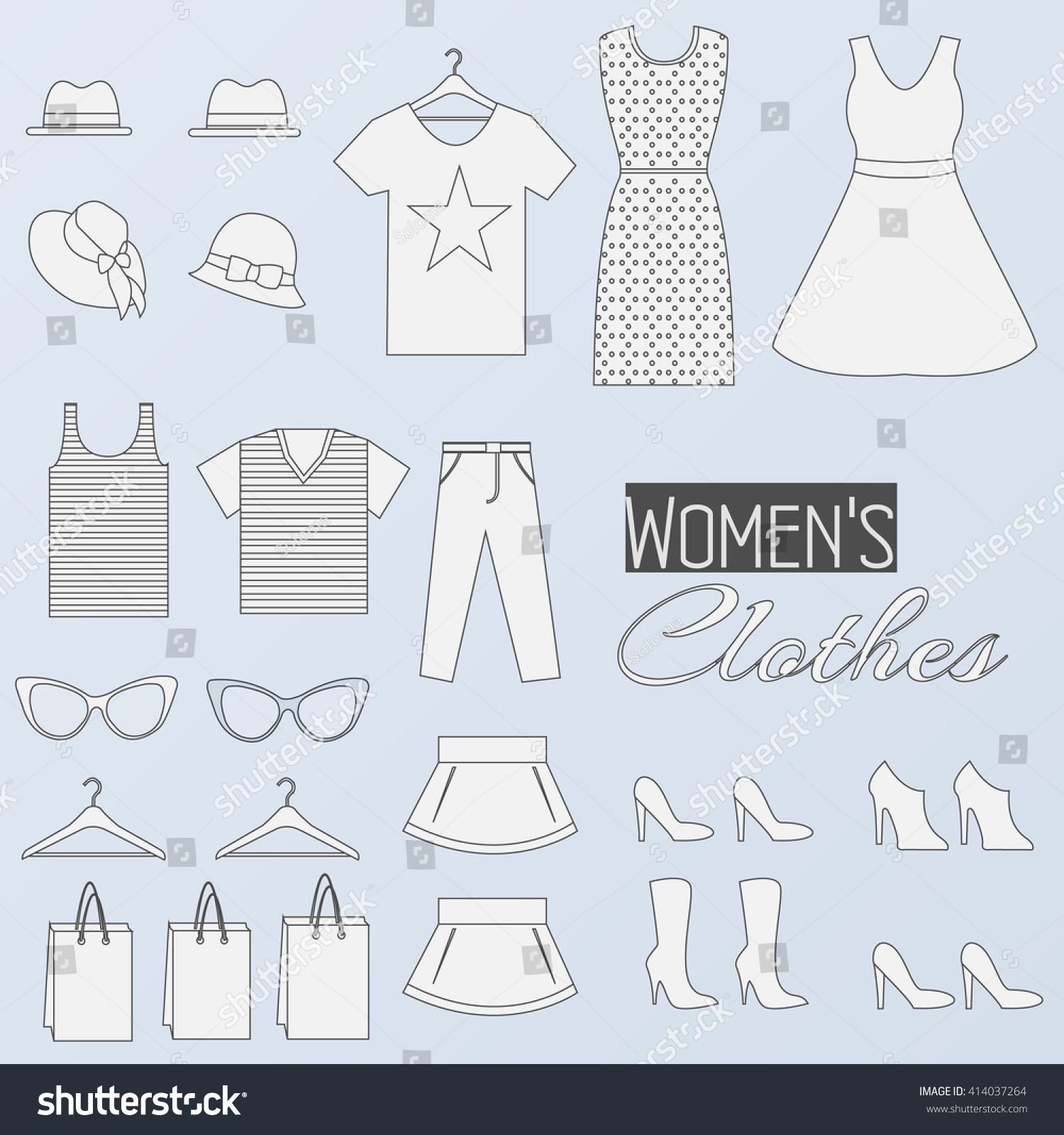 Fashion Clothing Infographics Template Concept Icons Stock Vector ...