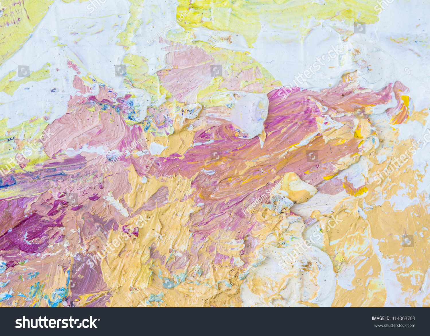 Abstract Oil Painting Texture Background Palette Stock Illustration ...
