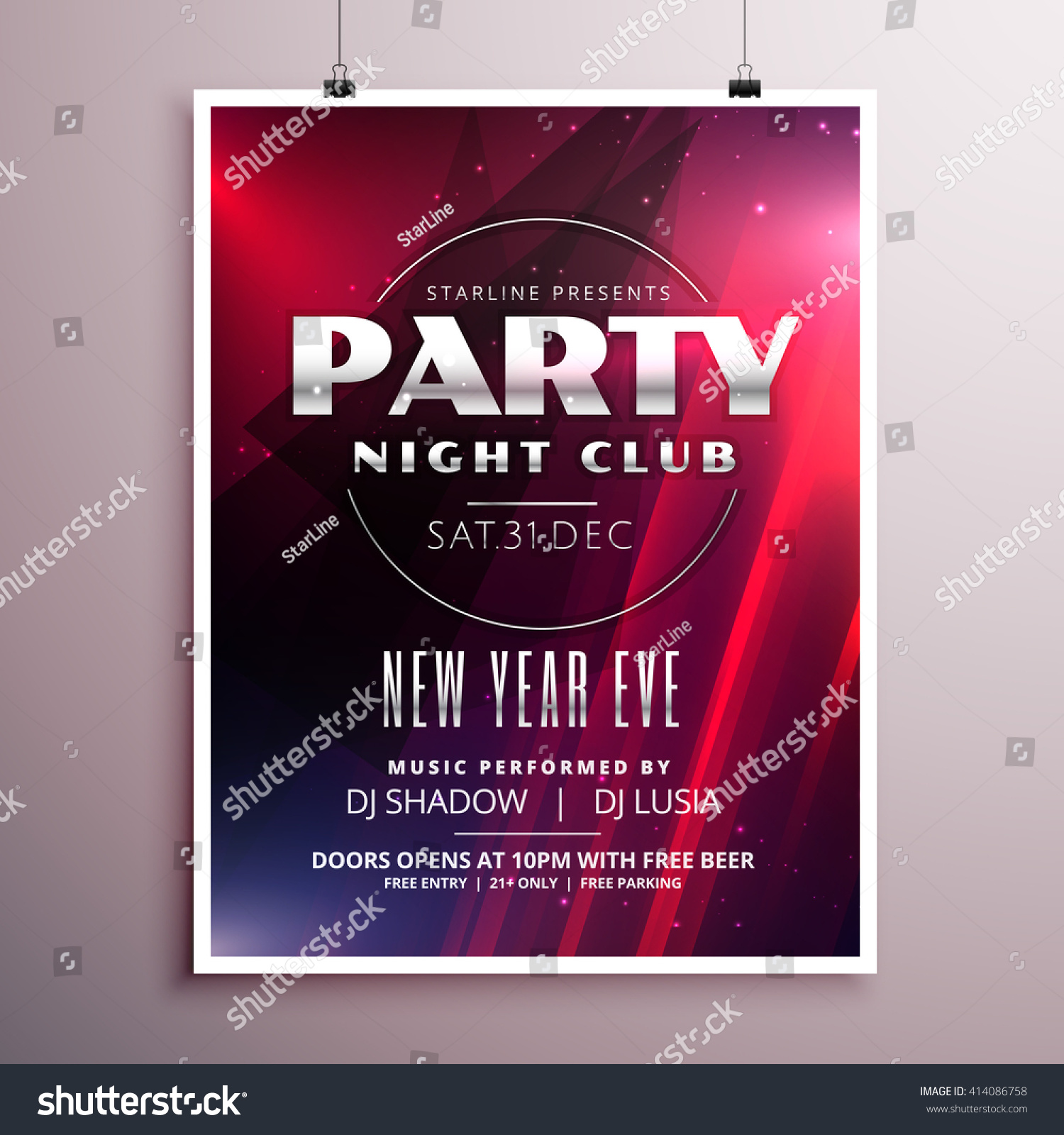 nightclub party flyer template design event stock vector  nightclub party flyer template design event details