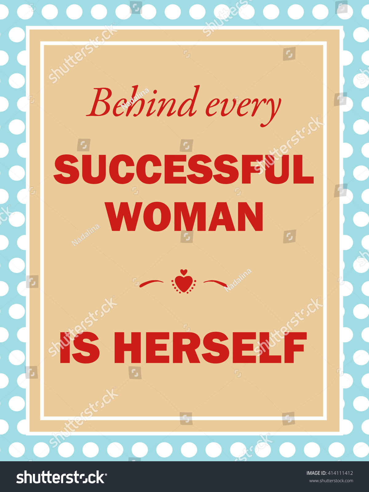 behind every successful w herself vector stock vector behind every successful w is herself vector illustration