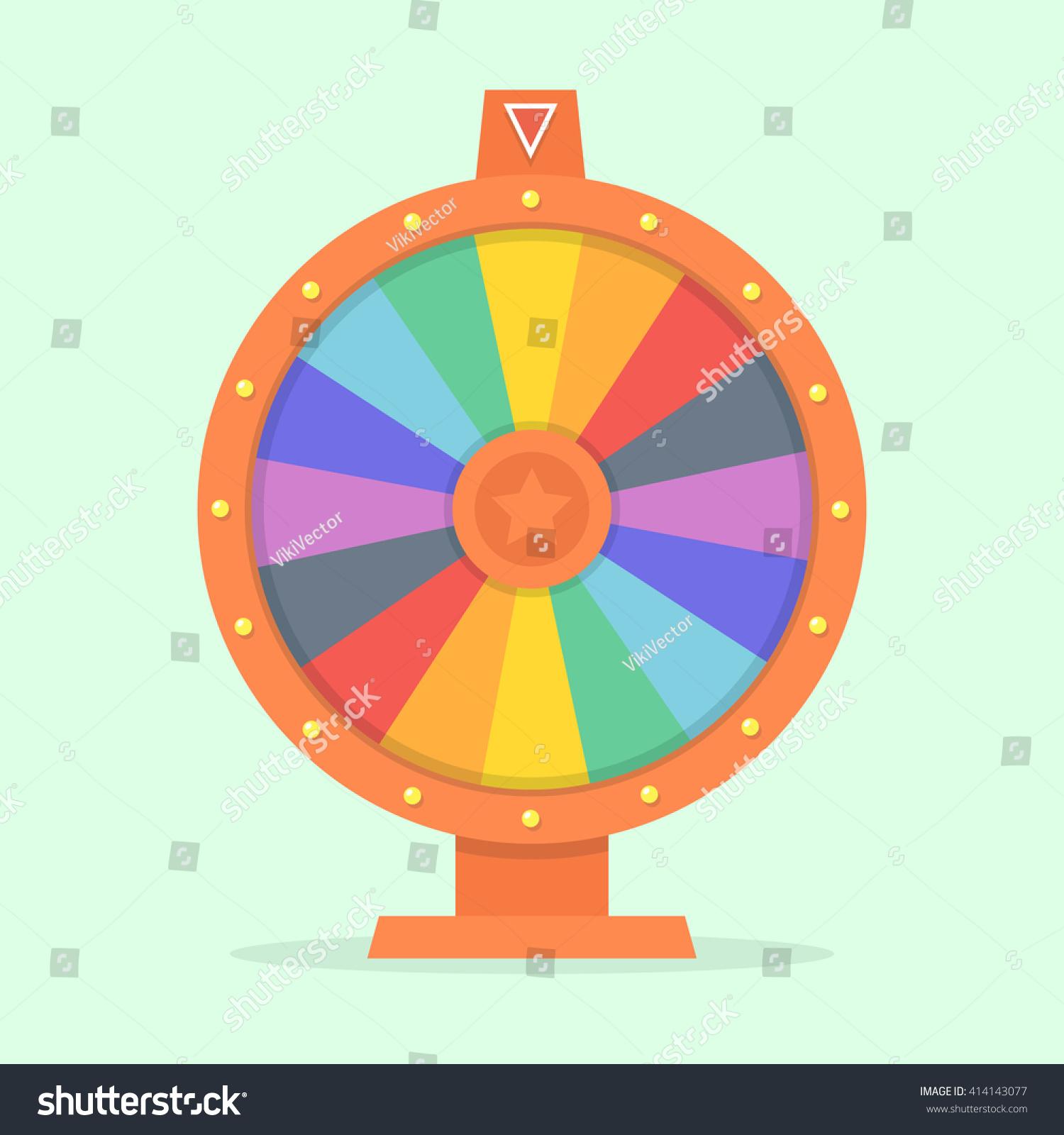 wheel fortune vector illustration flat colorful stock vector 414143077 shutterstock. Black Bedroom Furniture Sets. Home Design Ideas