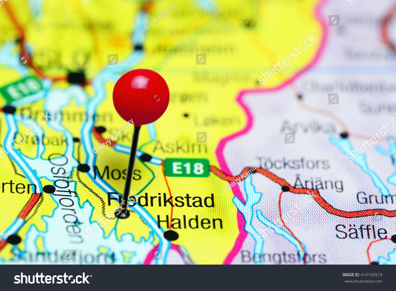 Fredrikstad Pinned On Map Norway Stock Photo Shutterstock - Norway map fredrikstad