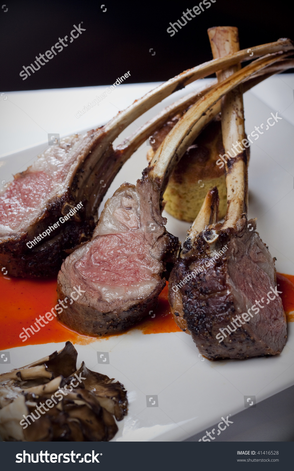 Classic Frenched Rack Of Lamb Stock Photo 41416528 : Shutterstock